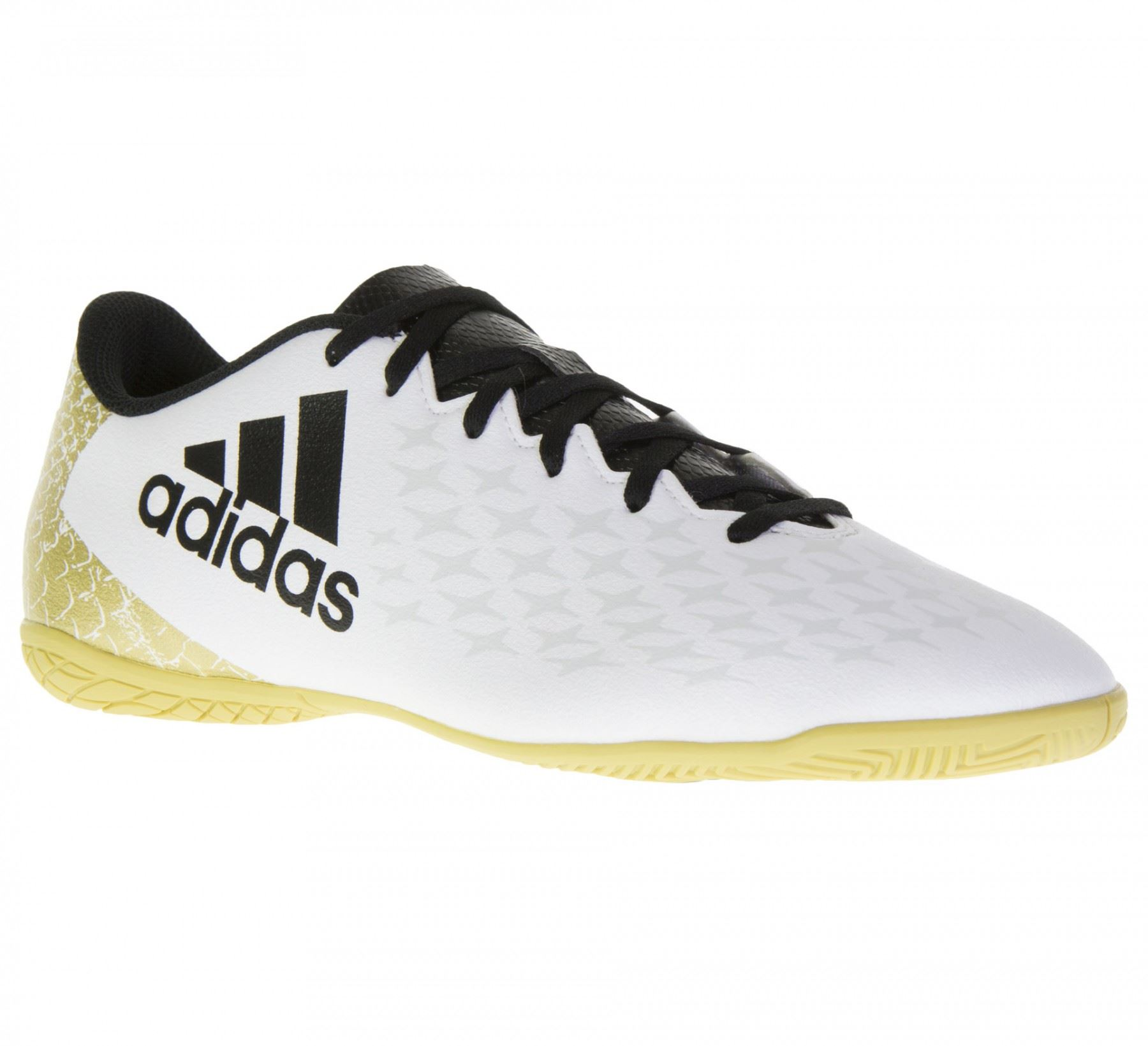 c655a687df9 ... adidas X 16.4 Indoor Football Shoes Mens White Black Gold Futsal Soccer  Trainers ...