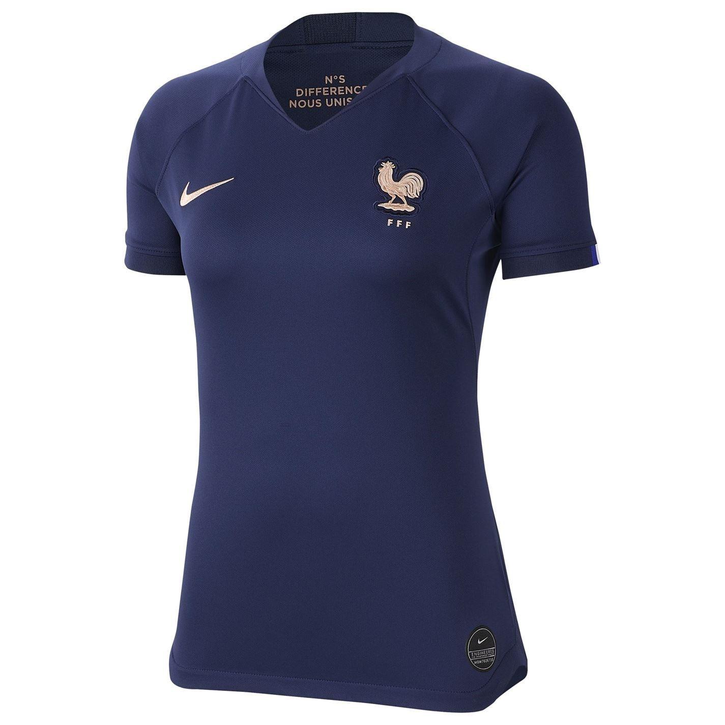Détails sur Nike France Femmes Coupe Du Monde 2019 Maillot Domicile Blanc Football Jersey