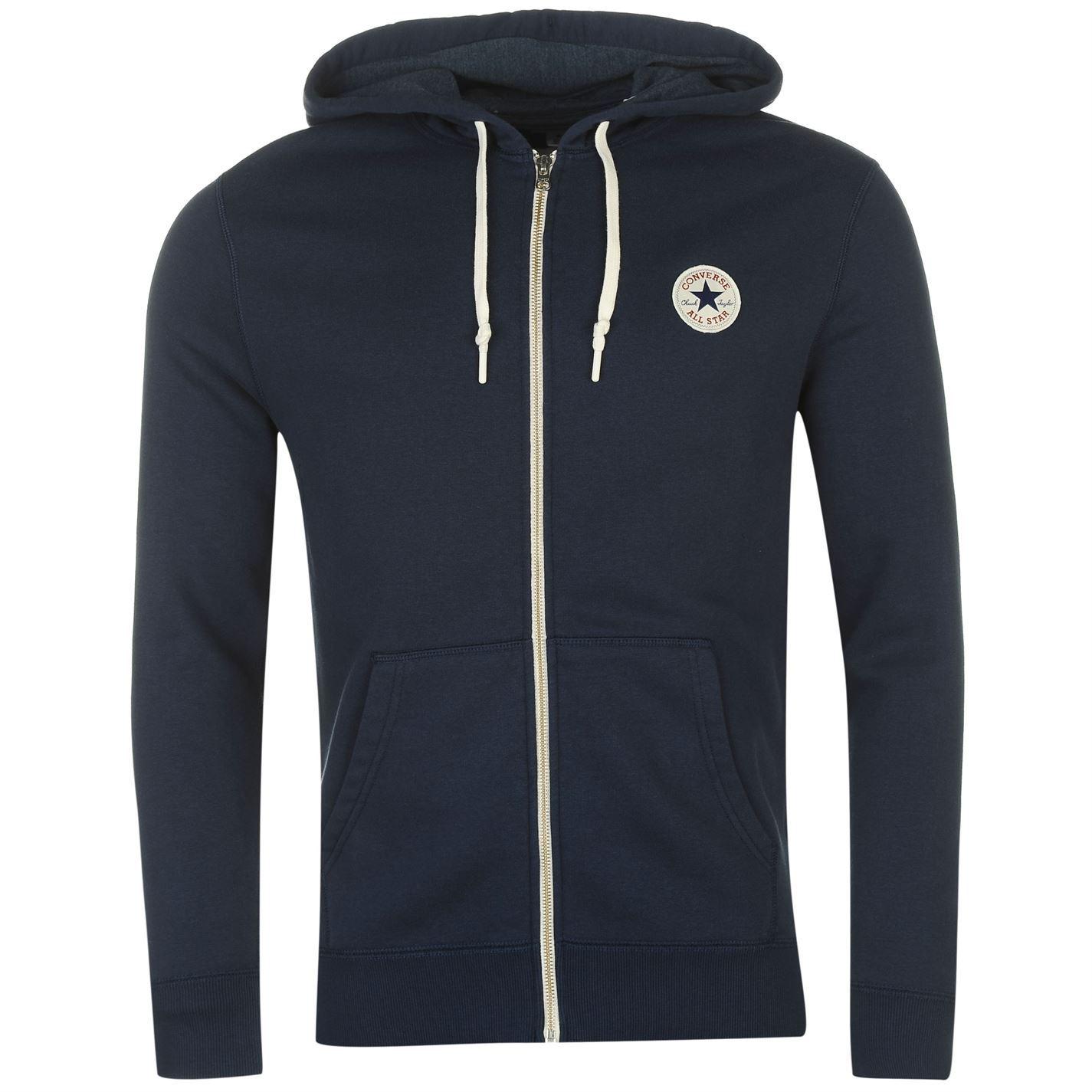 thumbnail 13 - Converse Core Full Zip Hoody Jacket Mens Hoodie Sweatshirt Sweater Hooded Top