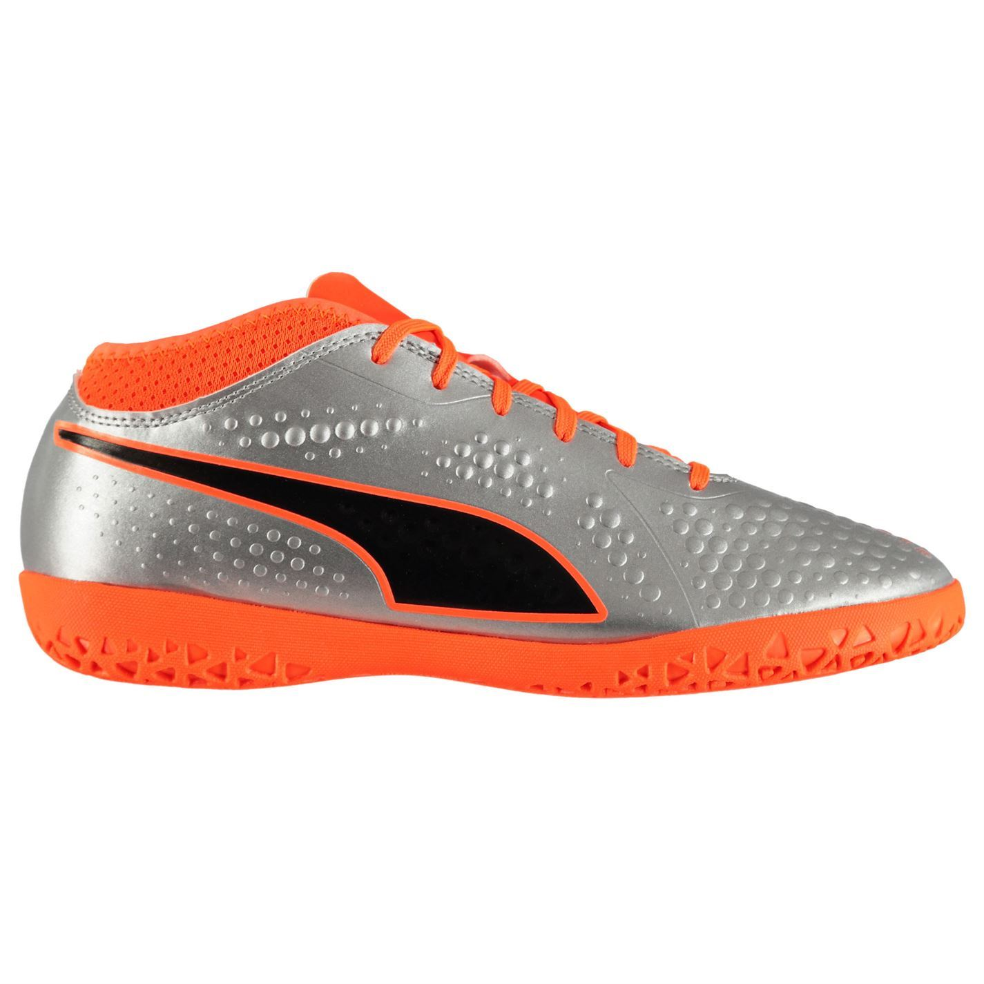 9bd480f50 Details about Puma ONE 4 Indoor Football Trainers Mens Silver Orange Soccer Futsal  Shoes