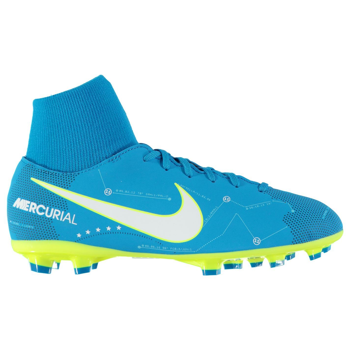 ... Nike Mercurial Victory Neymar Jr FG FG Football Boots Juniors Blue  Soccer Shoes ... 7c7b80f1f3d49