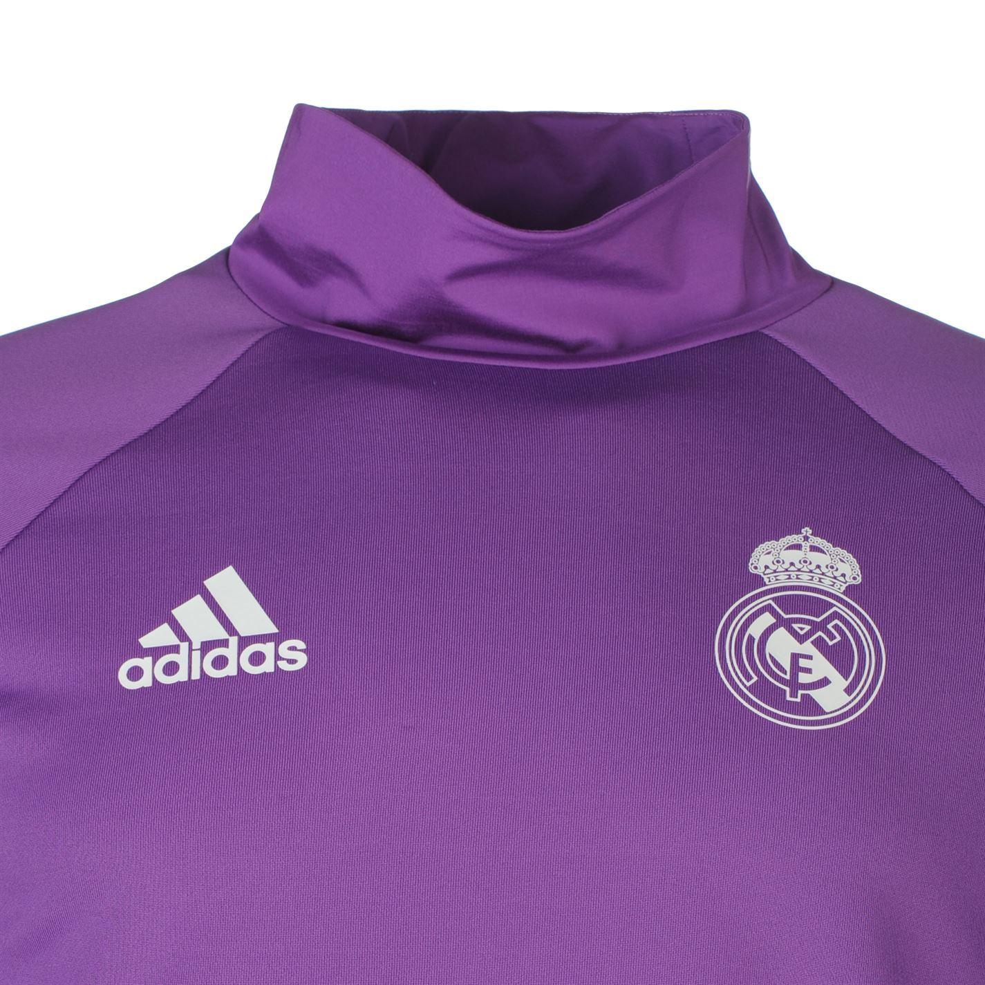 Détails sur Adidas Real Madrid Haut Entraînement Hommes Violet Football Ballon Maillot