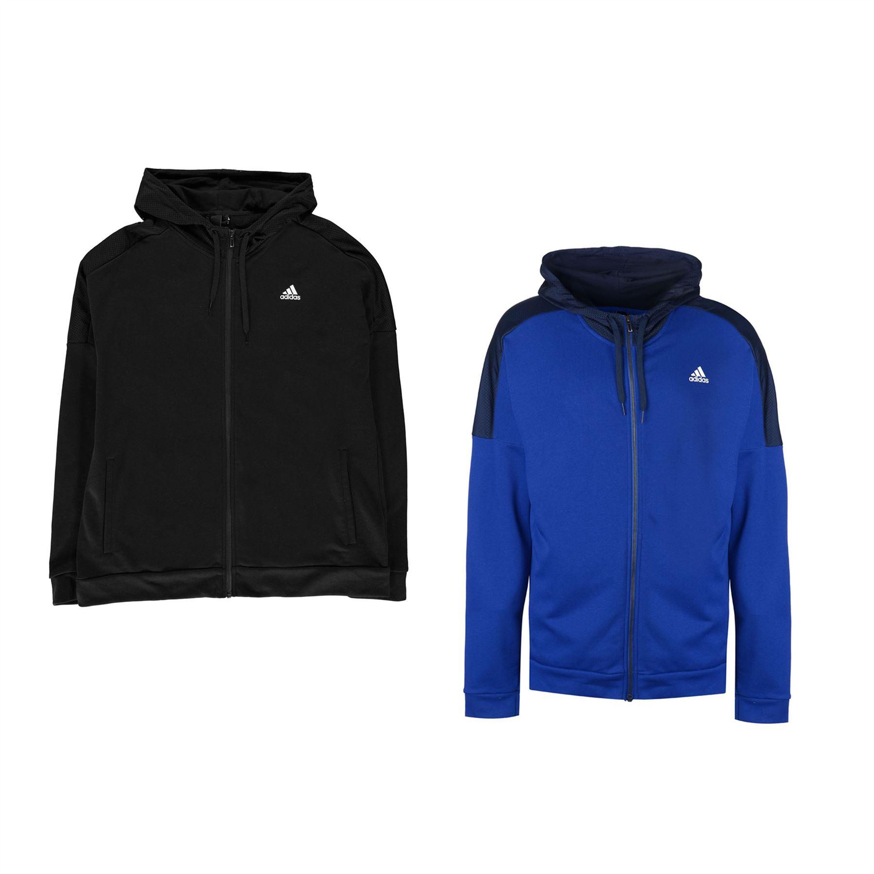 1d2b1b46fb76a ... adidas Sport ID Full Zip Hoody Mens Hoodie Top Sweatshirt Sweater ...