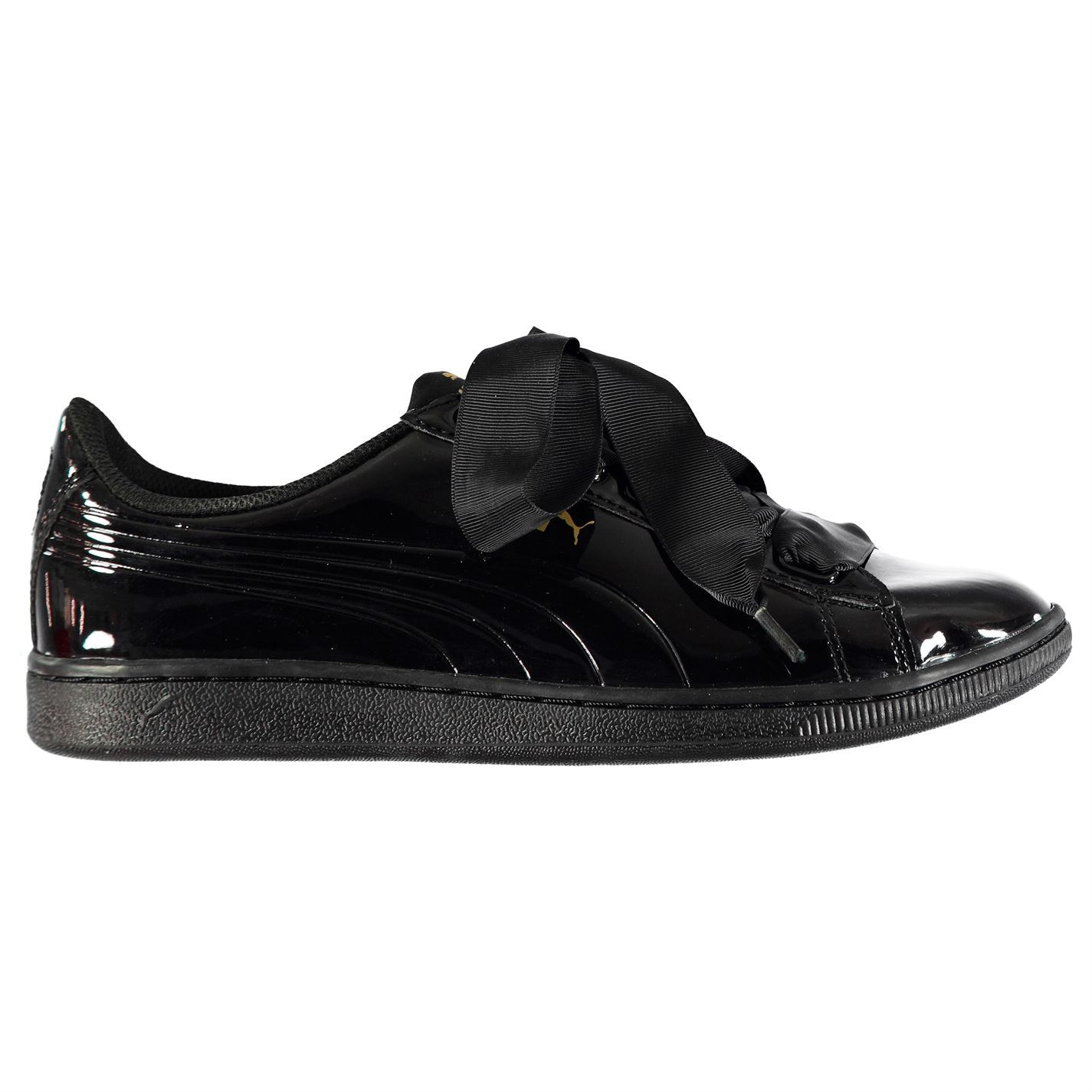 baf6e0efc03d30 ... Puma Vikky Ribbon Trainers Womens Black Sports Trainers Sneakers ...
