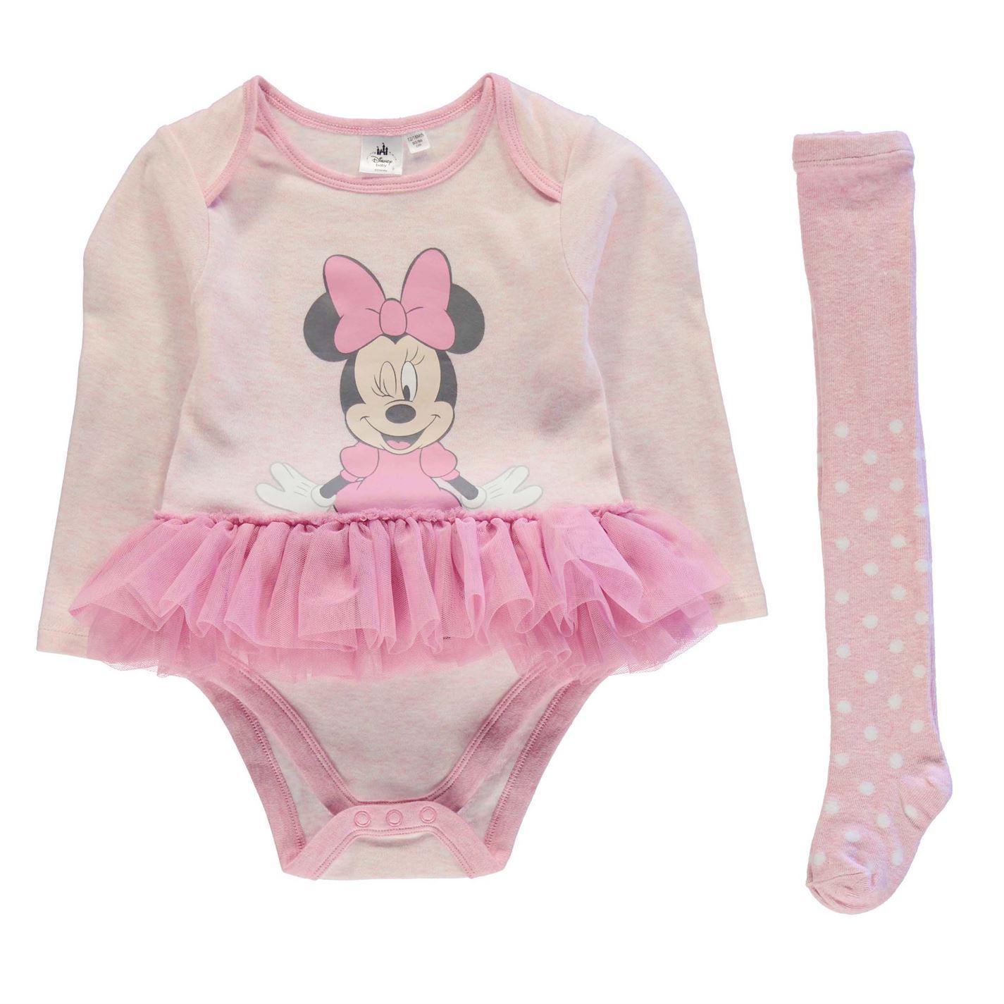 Disney 2 Piece Tutu Bodysuit & Tights Set Baby Girl Pink Clothes Set