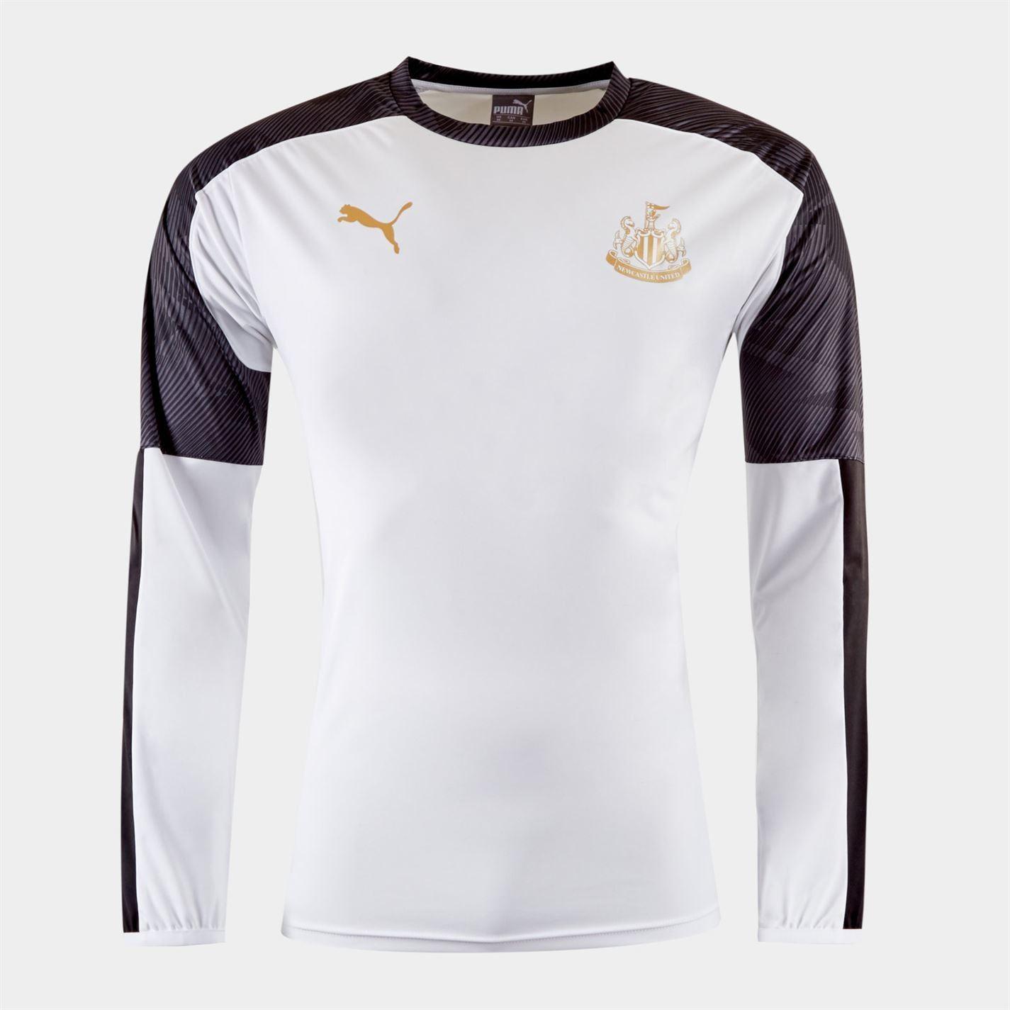 Puma-Newcastle-United-T-Shirt-Junior-Football-Boys-Soccer-Fan-Jersey-Drill-Top thumbnail 6