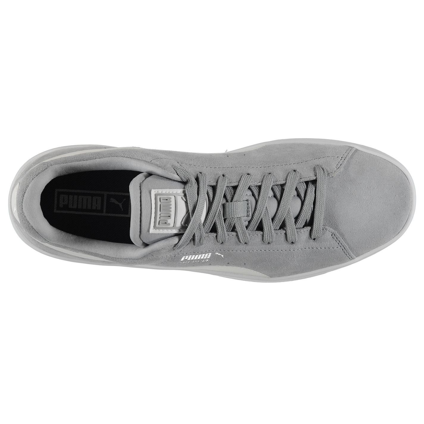 ... Puma Suede S Trainers Mens Grey/White Casual Sneakers Shoes Footwear ...