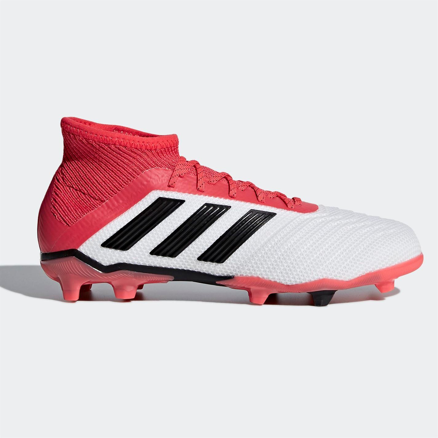 c1dc5269 adidas Predator 18.1 Firm Ground Football Boots Childs White Soccer Shoes  Cleats