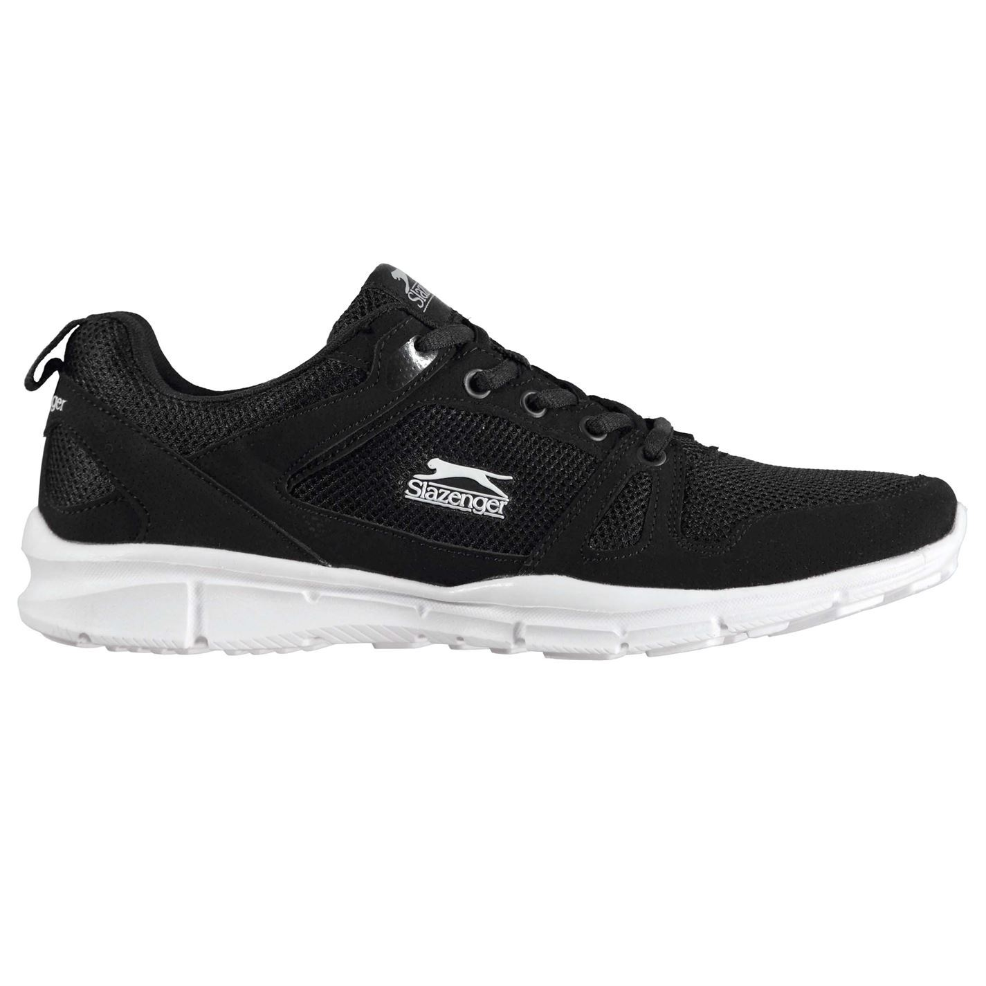 Slazenger Mens Force Mesh Running Shoes Lace Up Memory Lightweight Breathable
