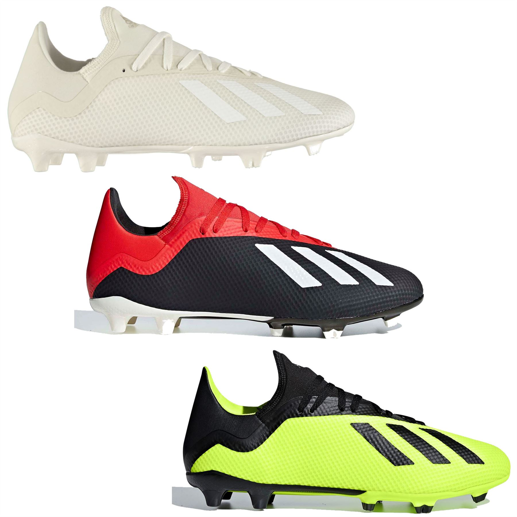 new style 82de0 3b6dc Details about adidas X 18.3 FG Firm Ground Football Boots Mens Soccer Shoes  Cleats