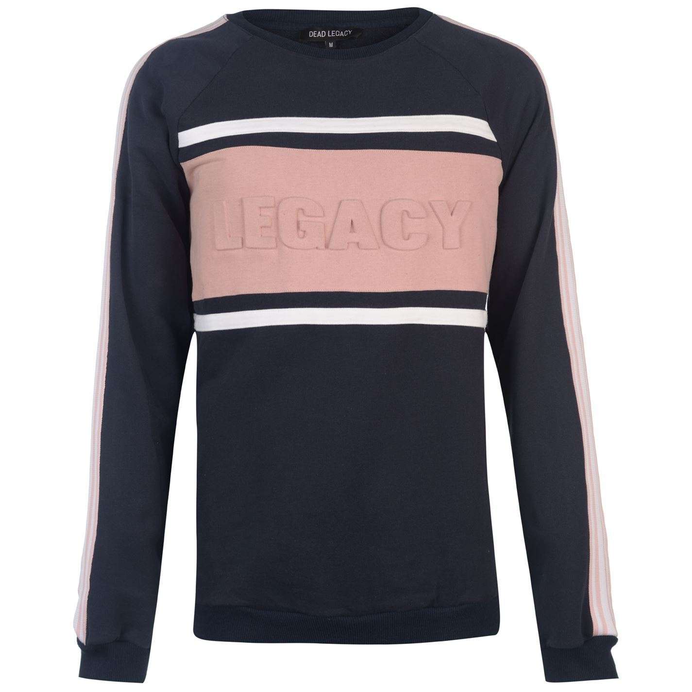 Dead Legacy Uomo Embossed Sweatshirt Uomo Legacy Sweater Top Jumper 9e0ca4