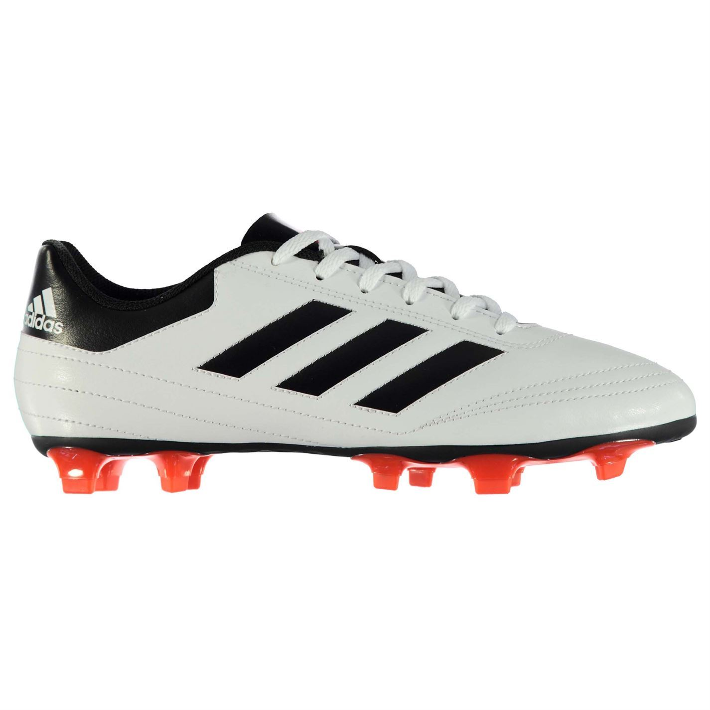e142ed4f4 adidas Goletto FG Firm Ground Football Boots Mens White Red Soccer Cleats  Shoes