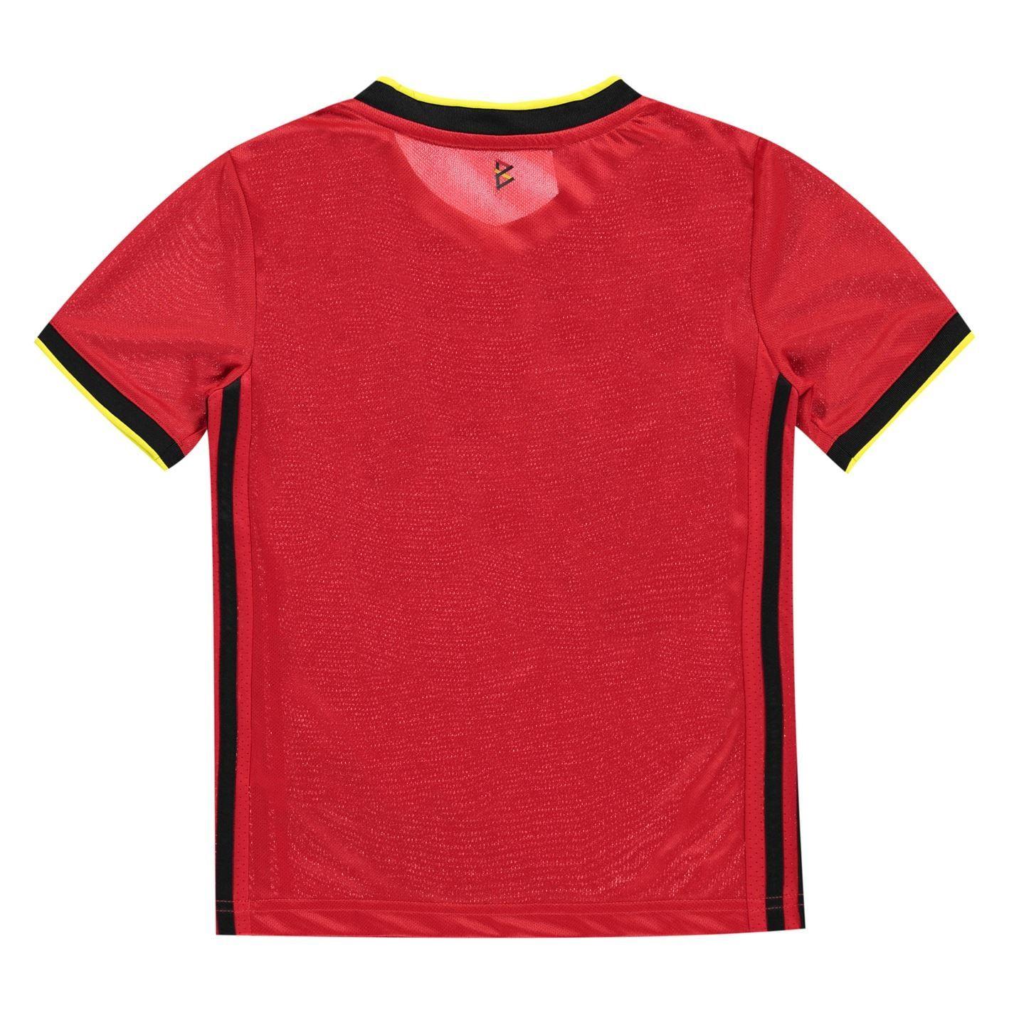 Belgien Damen T-Shirt ST-1 Rot Trikot Team Fußball Sport WM 2018