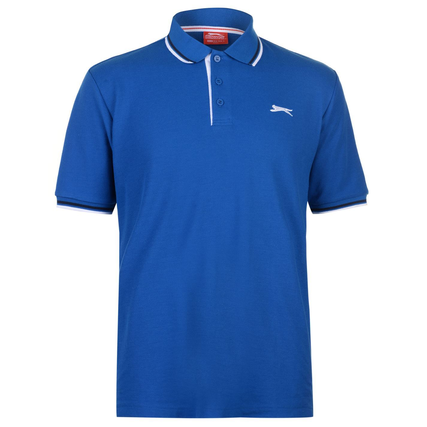 Slazenger-Polo-Camisa-de-hombre-con-cuello-con-Punta-T-Shirt-Top-Camiseta-Tee miniatura 11