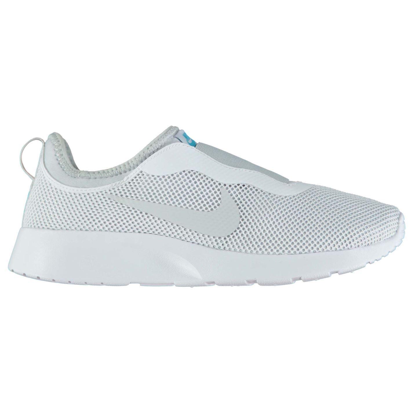 Nike Tanjun Slip On Trainers Womens White/Platinum Sports Trainers Sneakers