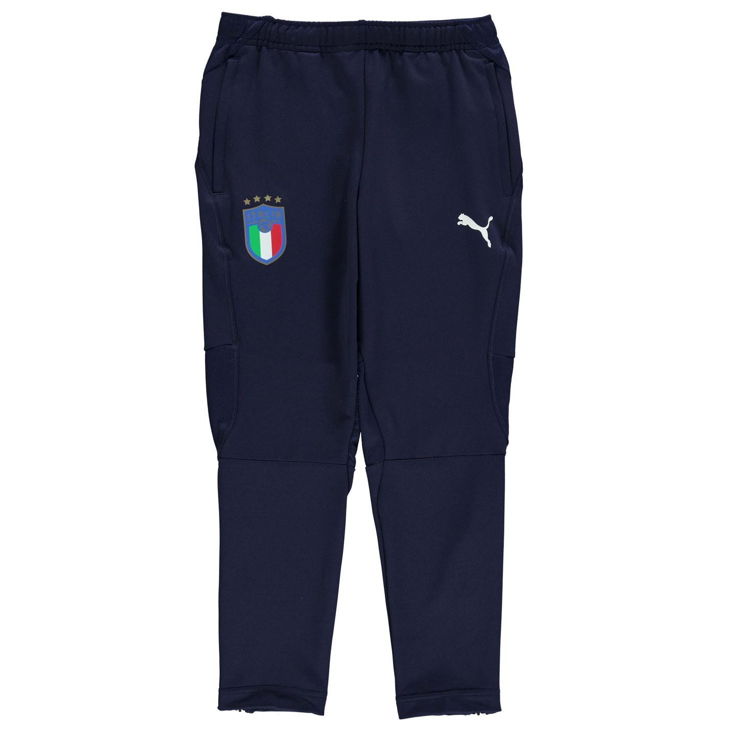 6532d6009ca6 ... Puma Italy Training Pants Juniors Blue Football Soccer Track Sweat  Bottoms ...