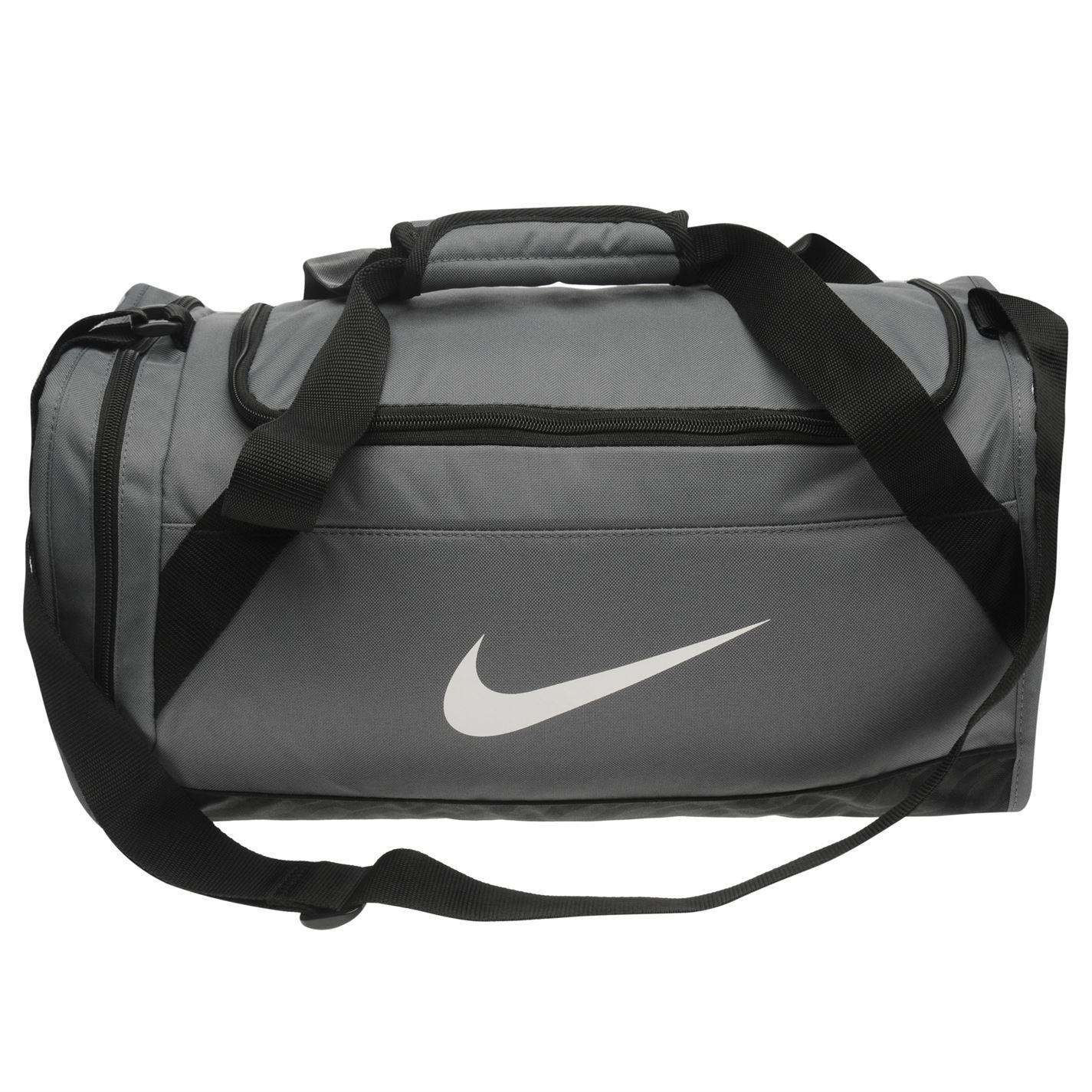 8a11033c58 ... Nike Brasilia presa piccola sport Holdall grigio palestra Kit Borsa  Carryall ...