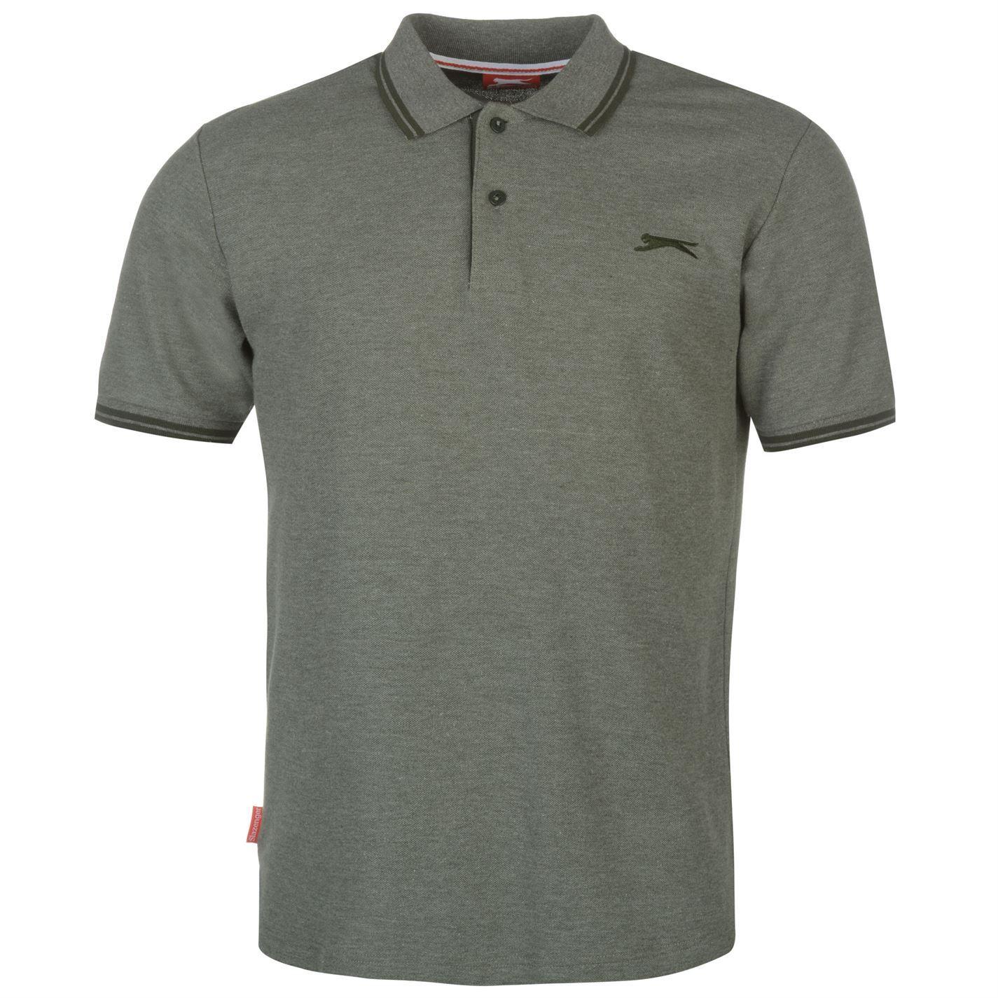 Slazenger-Polo-Camisa-de-hombre-con-cuello-con-Punta-T-Shirt-Top-Camiseta-Tee miniatura 49
