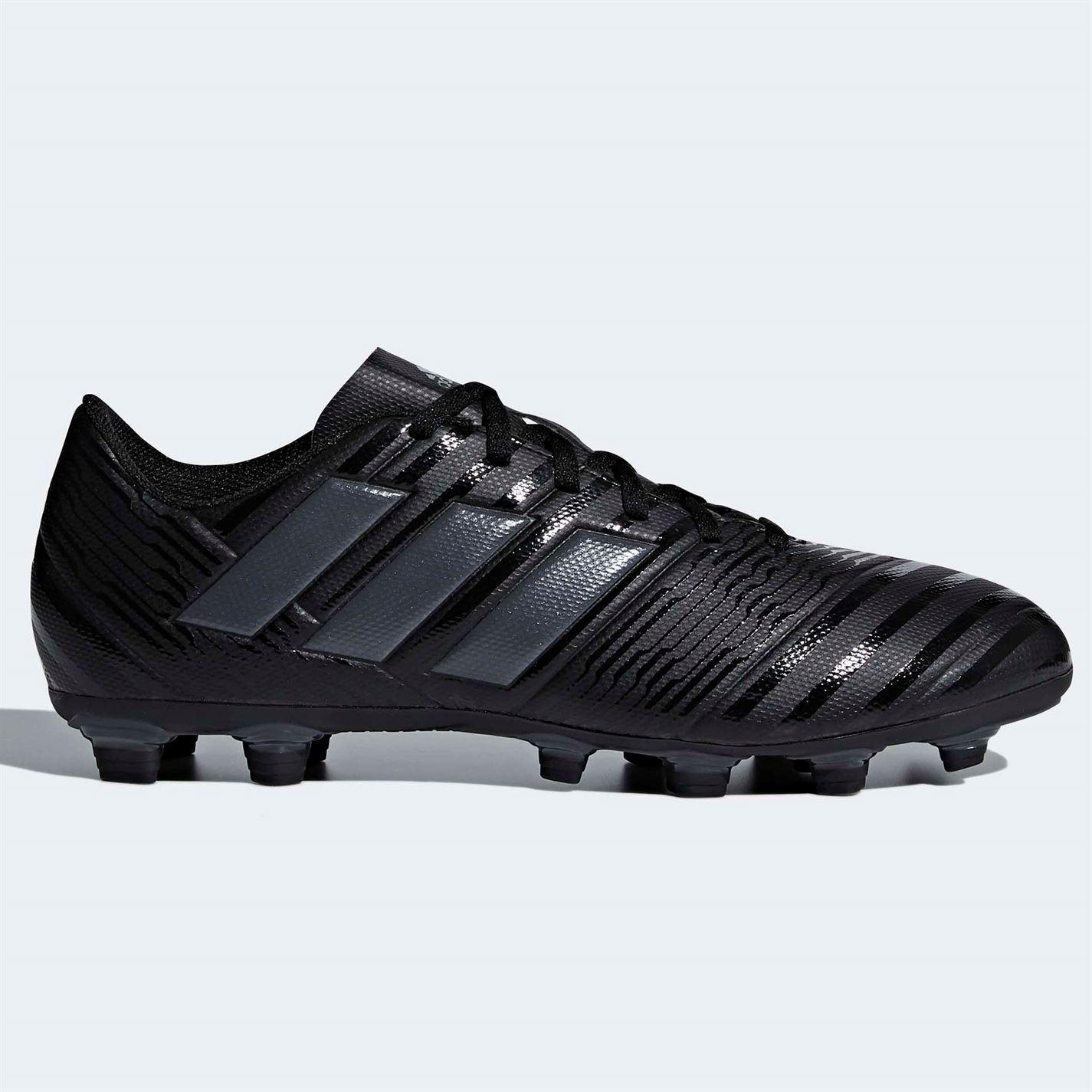 1f603ff75e00 ... adidas Nemeziz 17.4 FG Firm Ground Football Boots Mens Black Soccer  Shoes Cleats ...