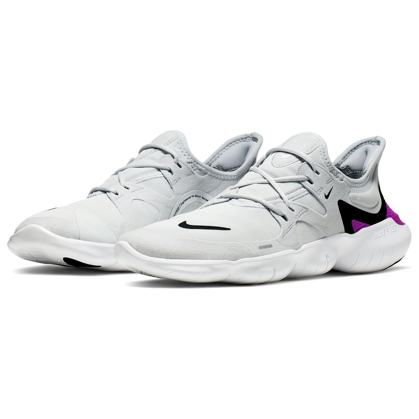 Nike Free Rn 5 0 Running Trainers Mens Grey White Footwear Athleisure Shoes Ebay