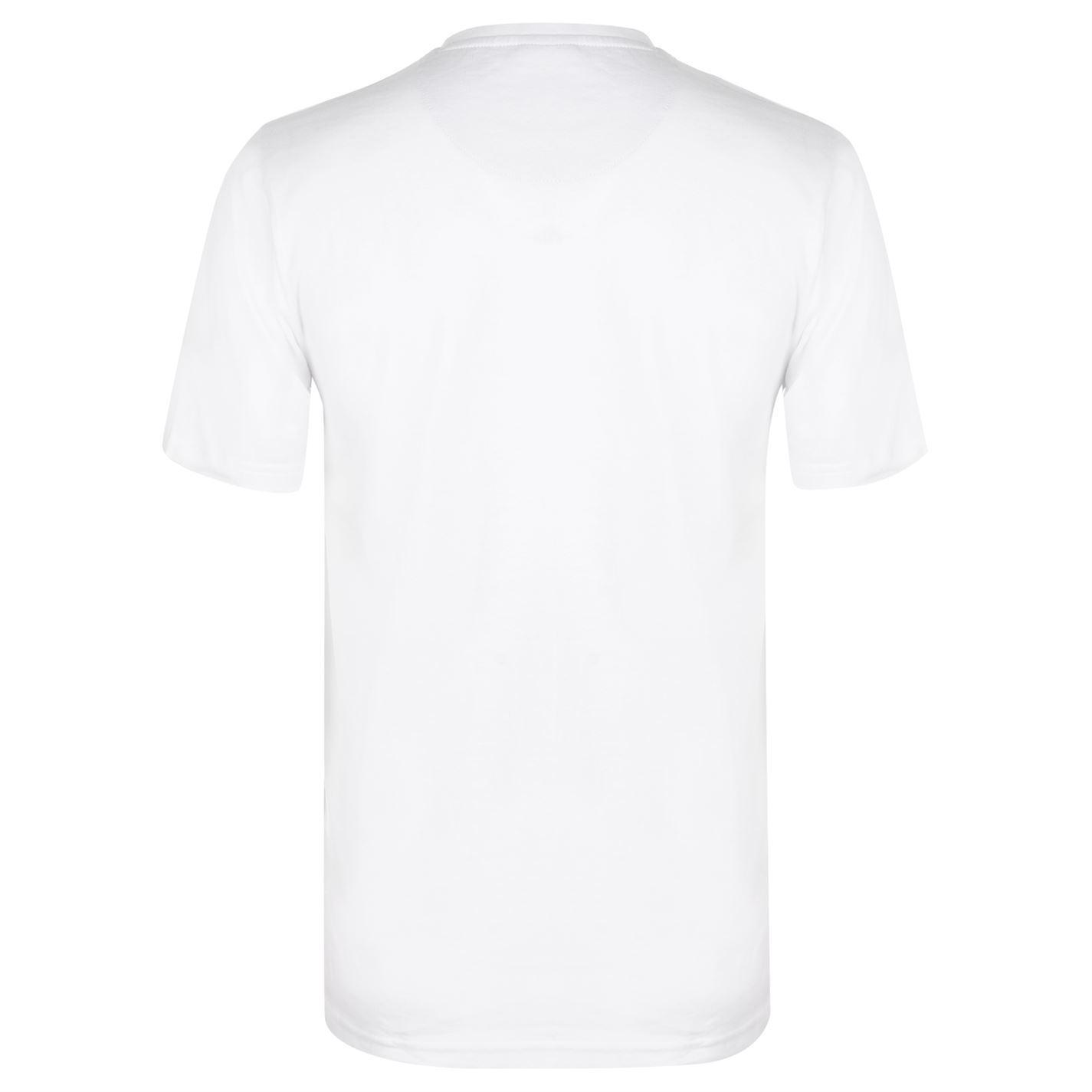 65bbe565 ... Pierre Cardin Contrast Henley T-Shirt Mens White Tee Shirt Tshirt Top