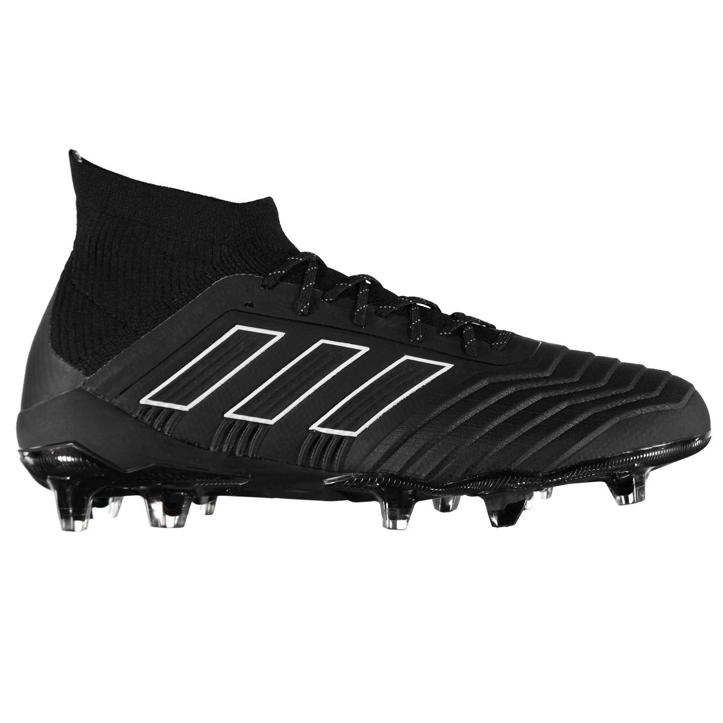 ... adidas Predator 18.1 FG Firm Ground Football Boots Mens Black Soccer  Shoe Cleats ... df3fc456f