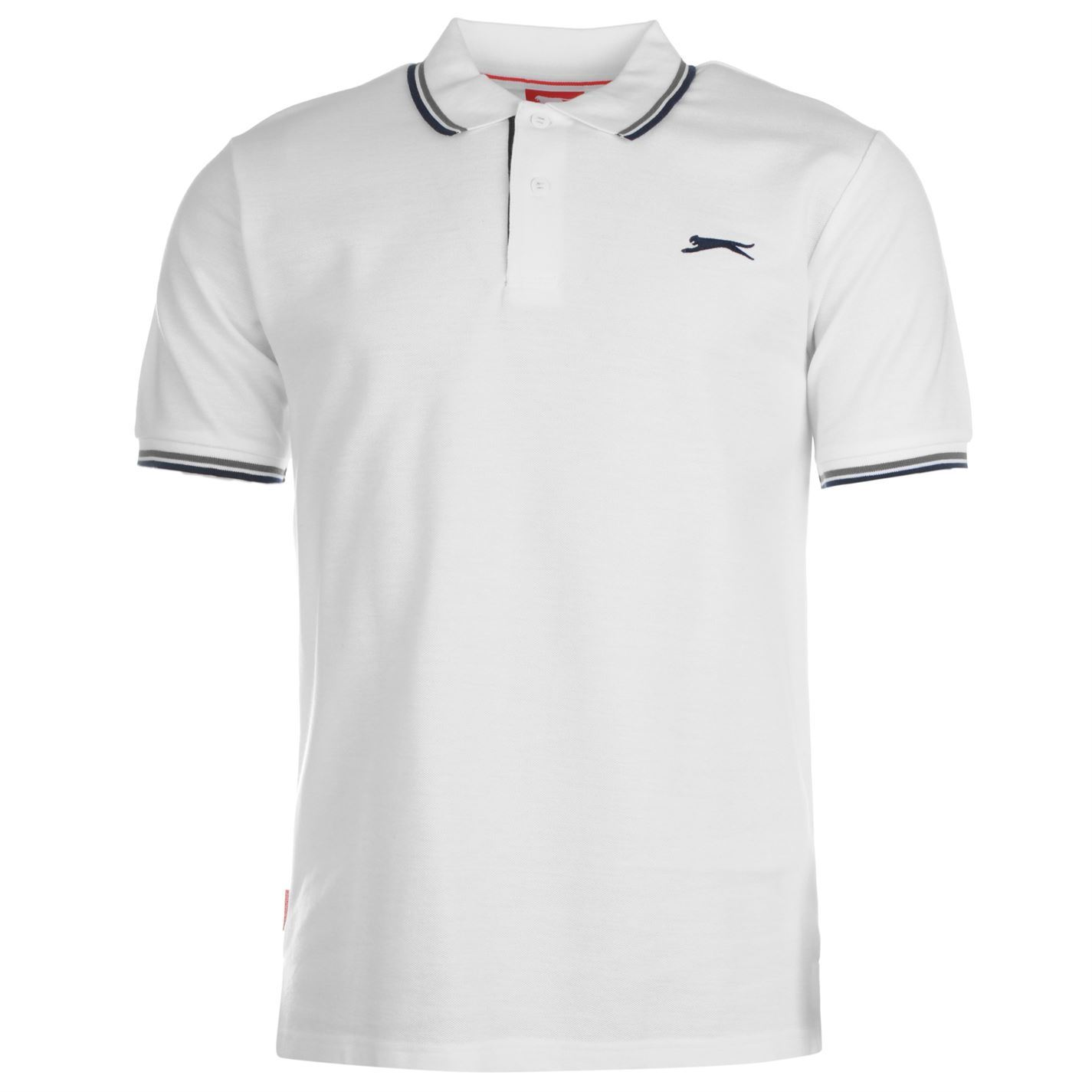 Slazenger-Polo-Camisa-de-hombre-con-cuello-con-Punta-T-Shirt-Top-Camiseta-Tee miniatura 83