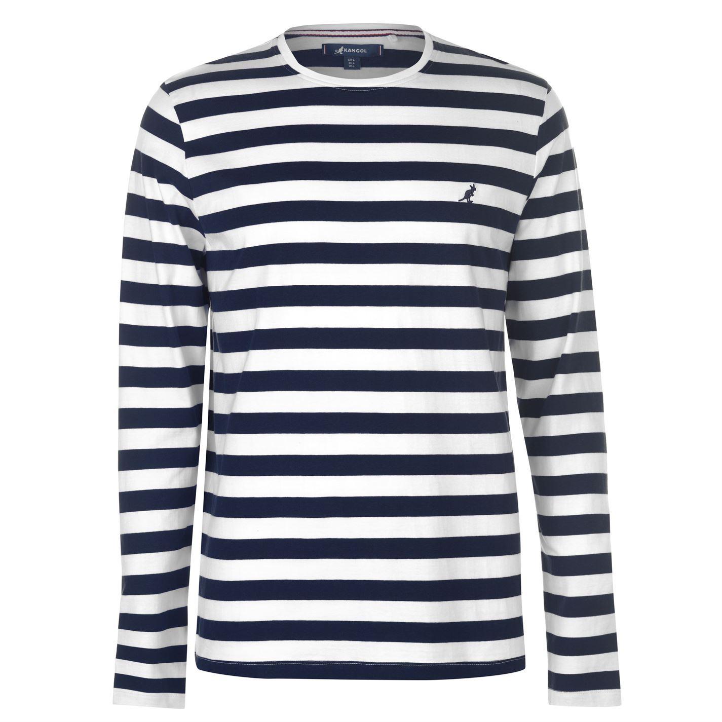 Kangol-Long-Sleeve-T-Shirt-Mens-Tee-Shirt-Top thumbnail 8