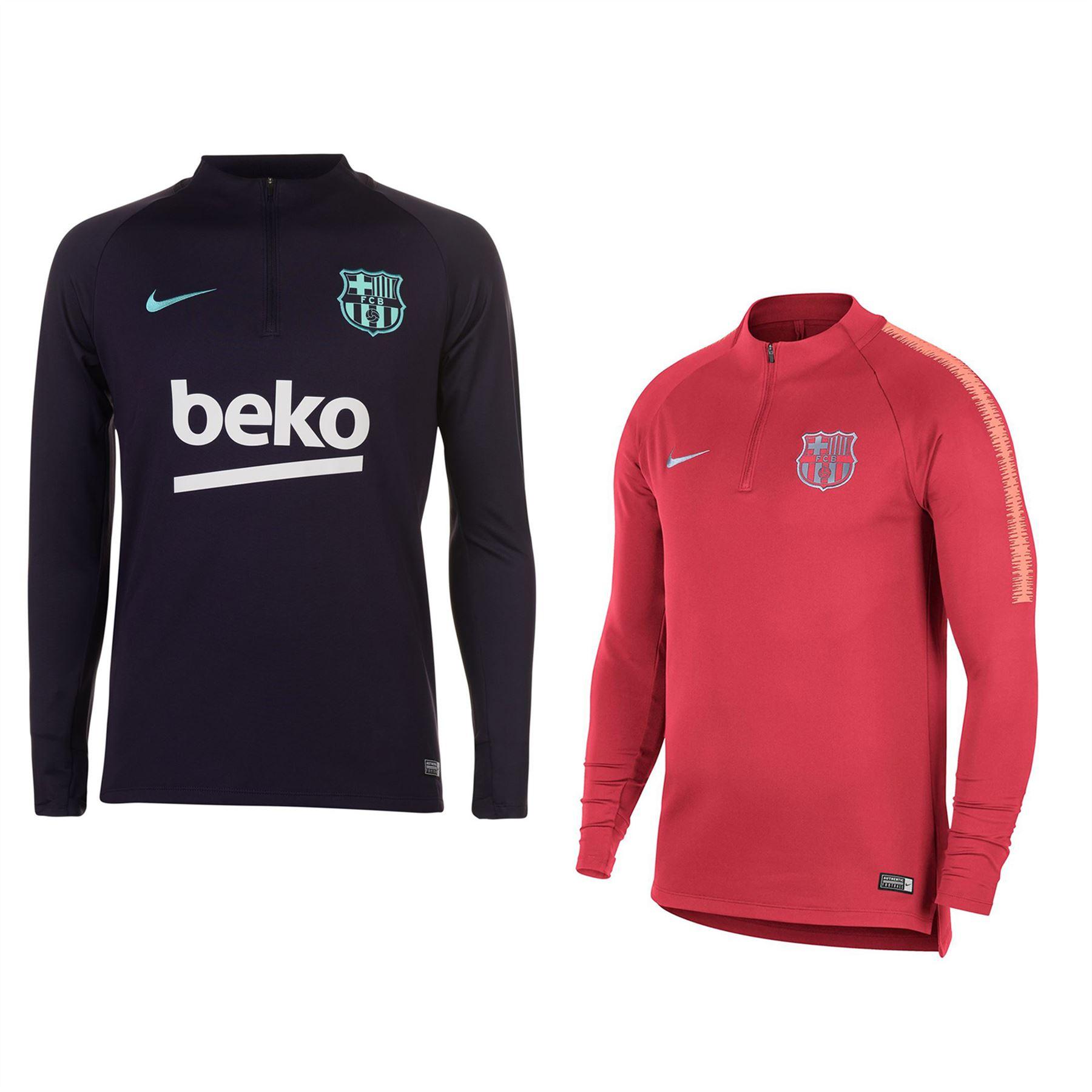 69a8329f2 ... Nike Barcelona Squad Drill Top Mens Football Soccer Sweatshirt ...