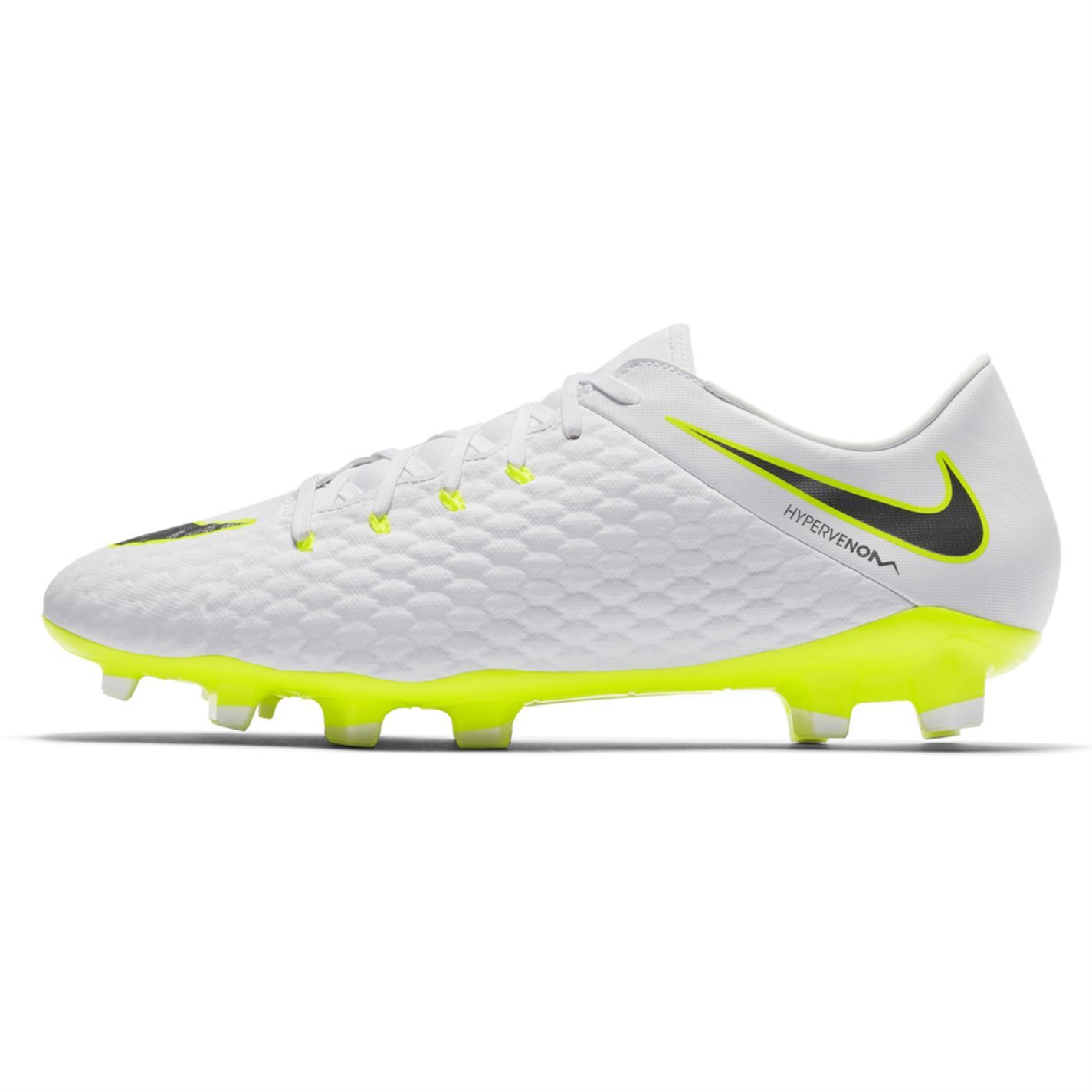 4263678f8889d Nike Hypervenom Phantom 3 Academy FG Football Boots Mens White Soccer Cleats