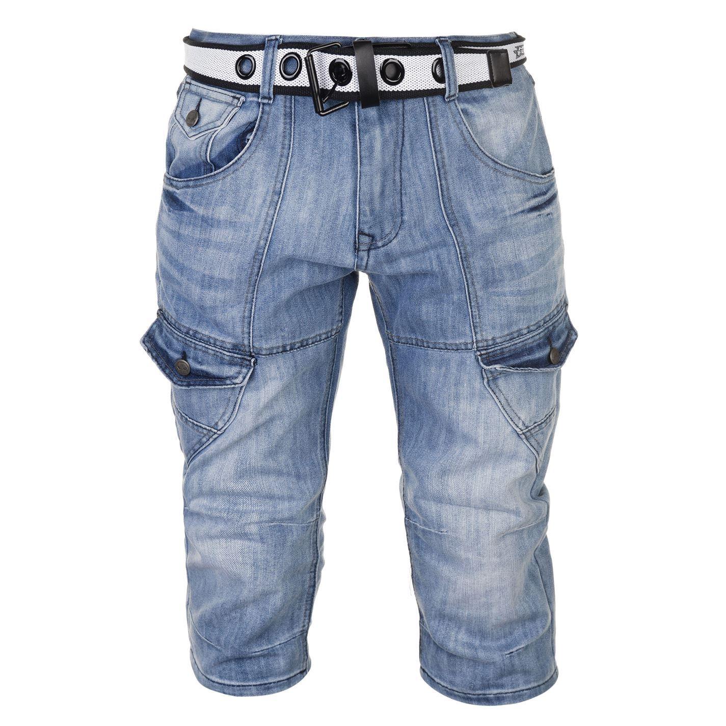 No-Fear-Belted-Cargo-Shorts-Mens-Bottoms-Short-Pants-Summerwear thumbnail 9