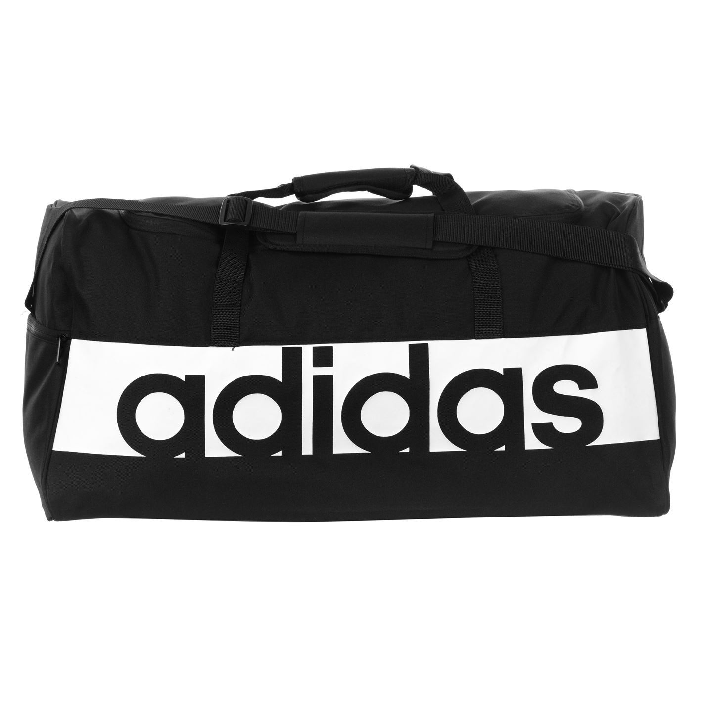 Details about adidas Linear Performance Duffel Bag Large BlackWhite Sports Gym Bag Holdall