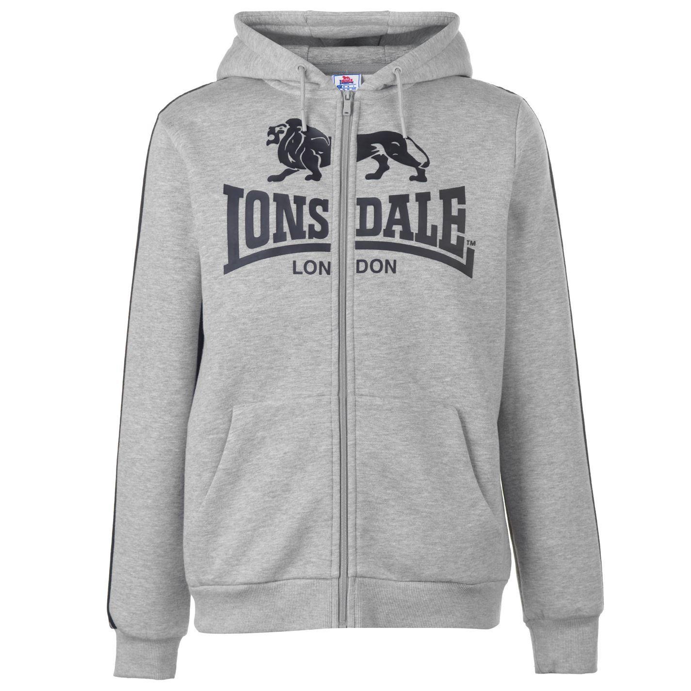 Lonsdale-2-Stripe-Logo-Full-Zip-Hoody-Mens-Hoodie-Top-Sweatshirt-Sweater thumbnail 14