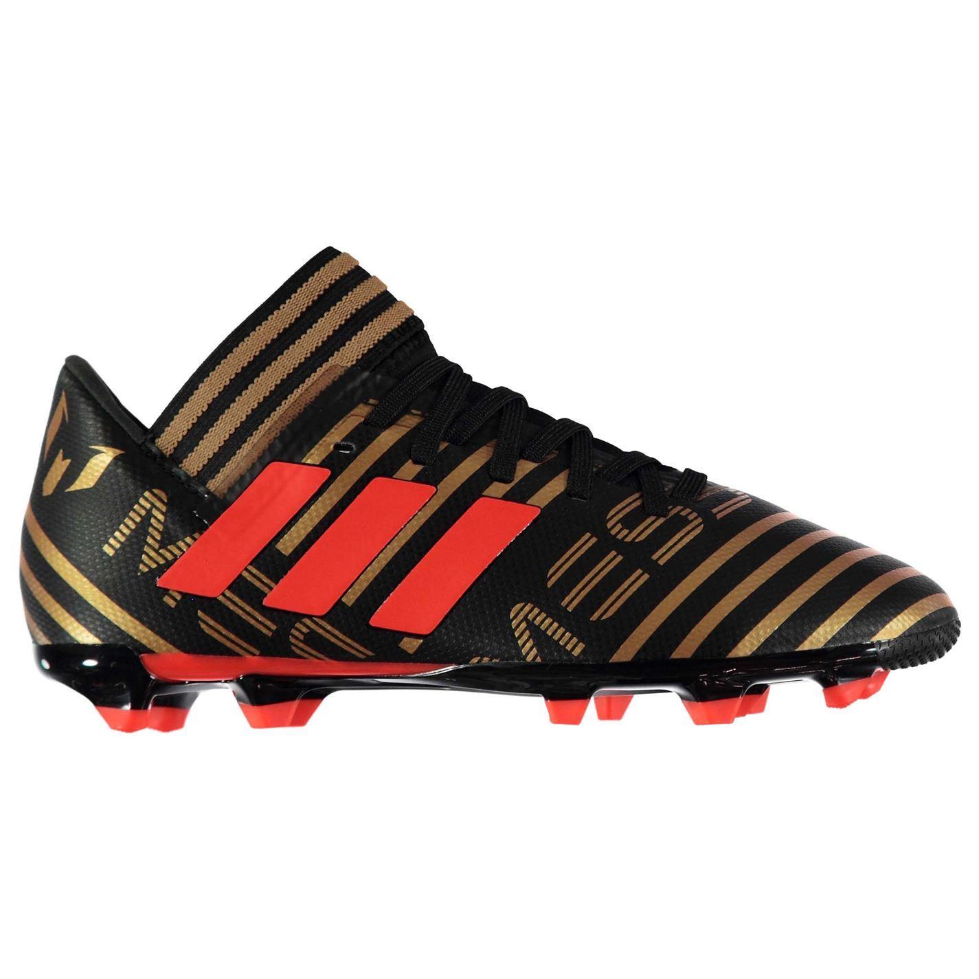 ... adidas Nemeziz Messi 17.3 FG Football Boots Childs Black Soccer Shoes  Cleats ... b219e913eb27d