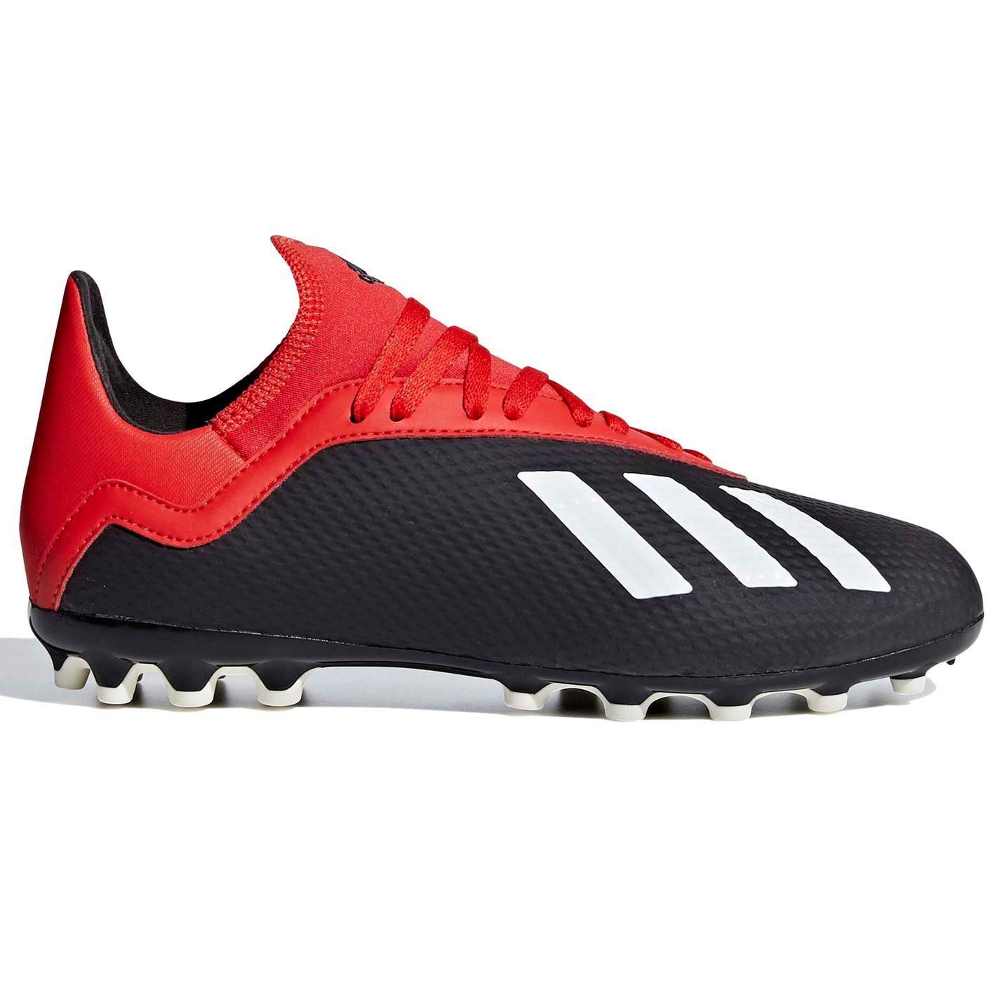 Dettagli su Adidas x 18.3 Ag Artificiali Scarpe da Calcio Juniors Scarpe Calcio Tacchetti