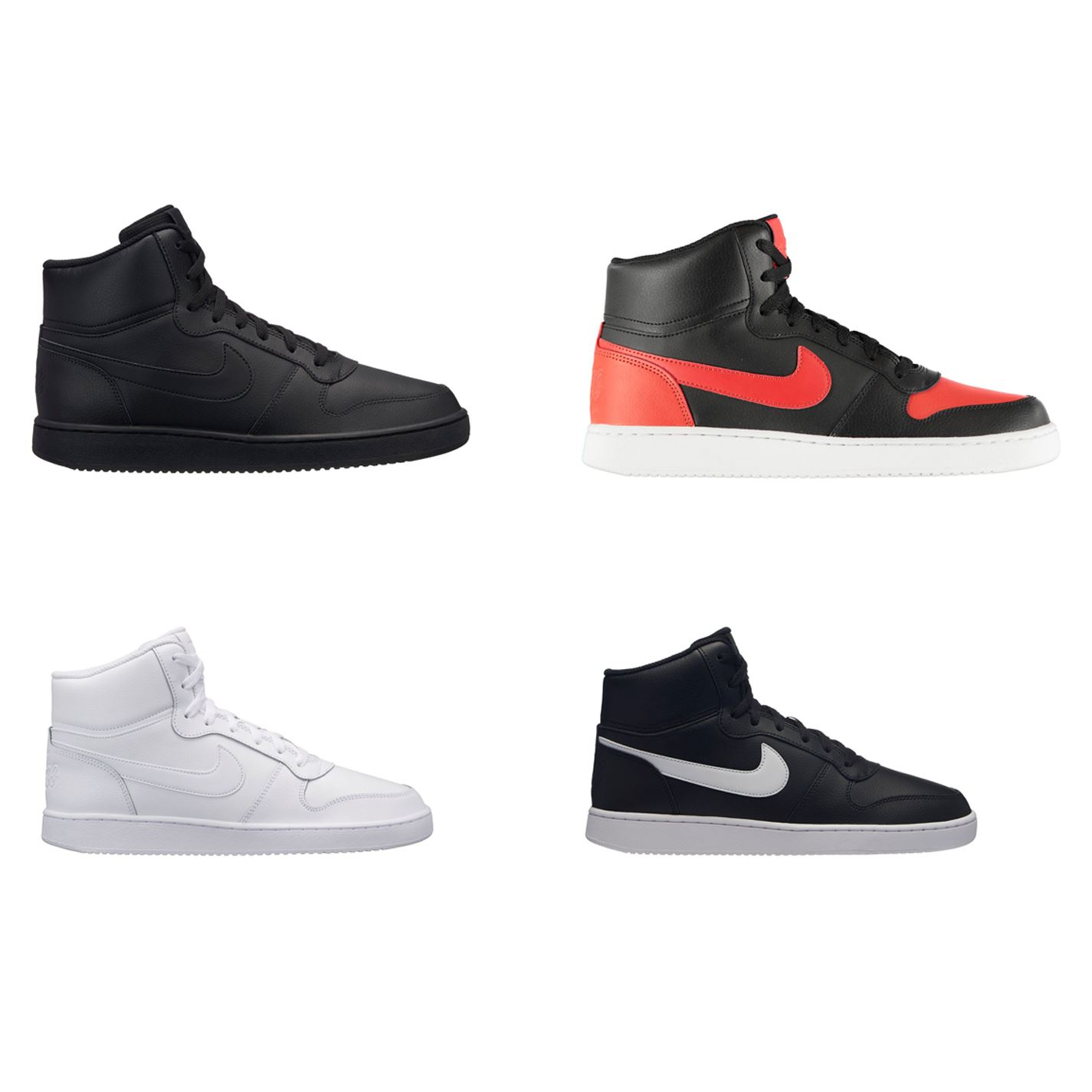 save off d6744 04ad0 Details about Nike Ebernon Mid Hi Top Trainers Mens Athleisure Footwear  Shoes Sneakers