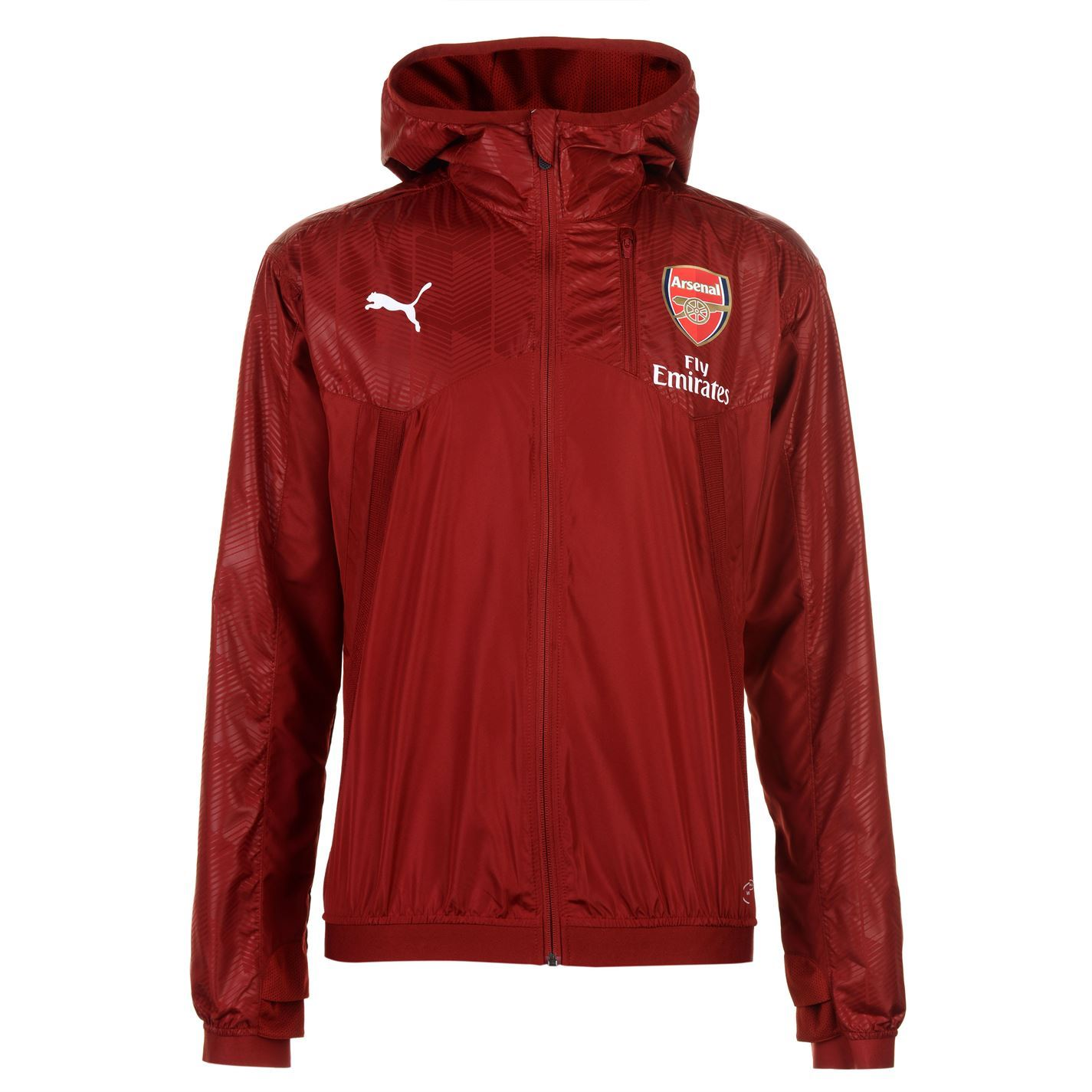 Details about Puma Arsenal Vent Hooded Jacket Mens Red Football Soccer Top  Outerwear Gunners
