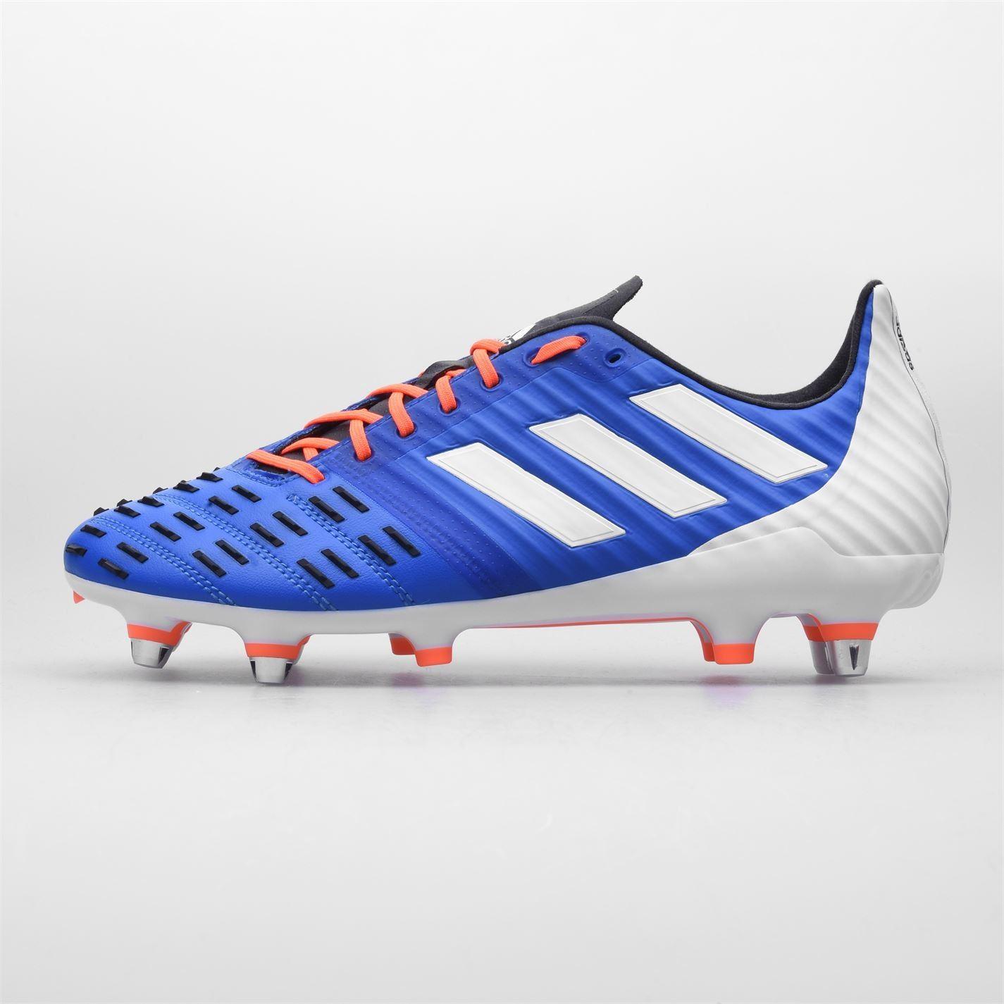 Détails sur Adidas Predator Malice Contrôle Hommes Rugby Bottes Bleu Orange Football Cale