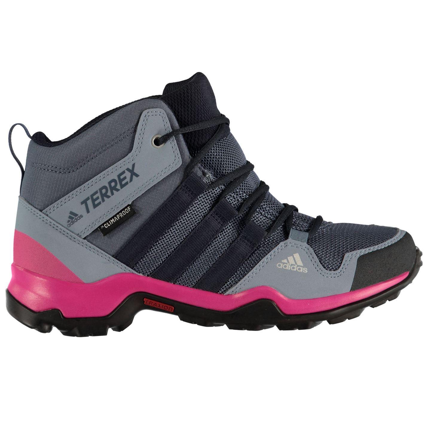 Détails sur Adidas Terrex AX2R Walking Boots Junior Filles Encremagenta Randonnée Trekking Chaussures afficher le titre d'origine
