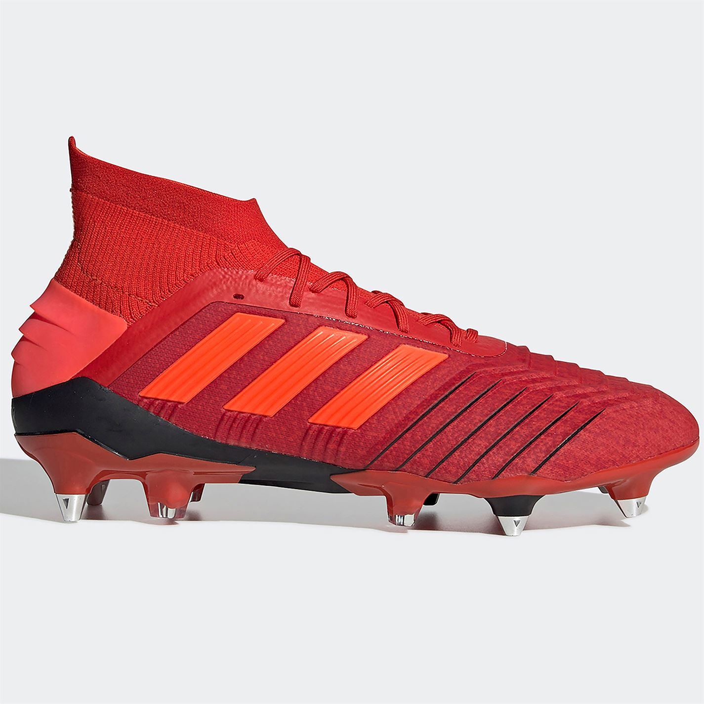 f83c22289 adidas Predator 19.1 SG Soft Ground Football Boots Mens Red Soccer Shoes  Cleats