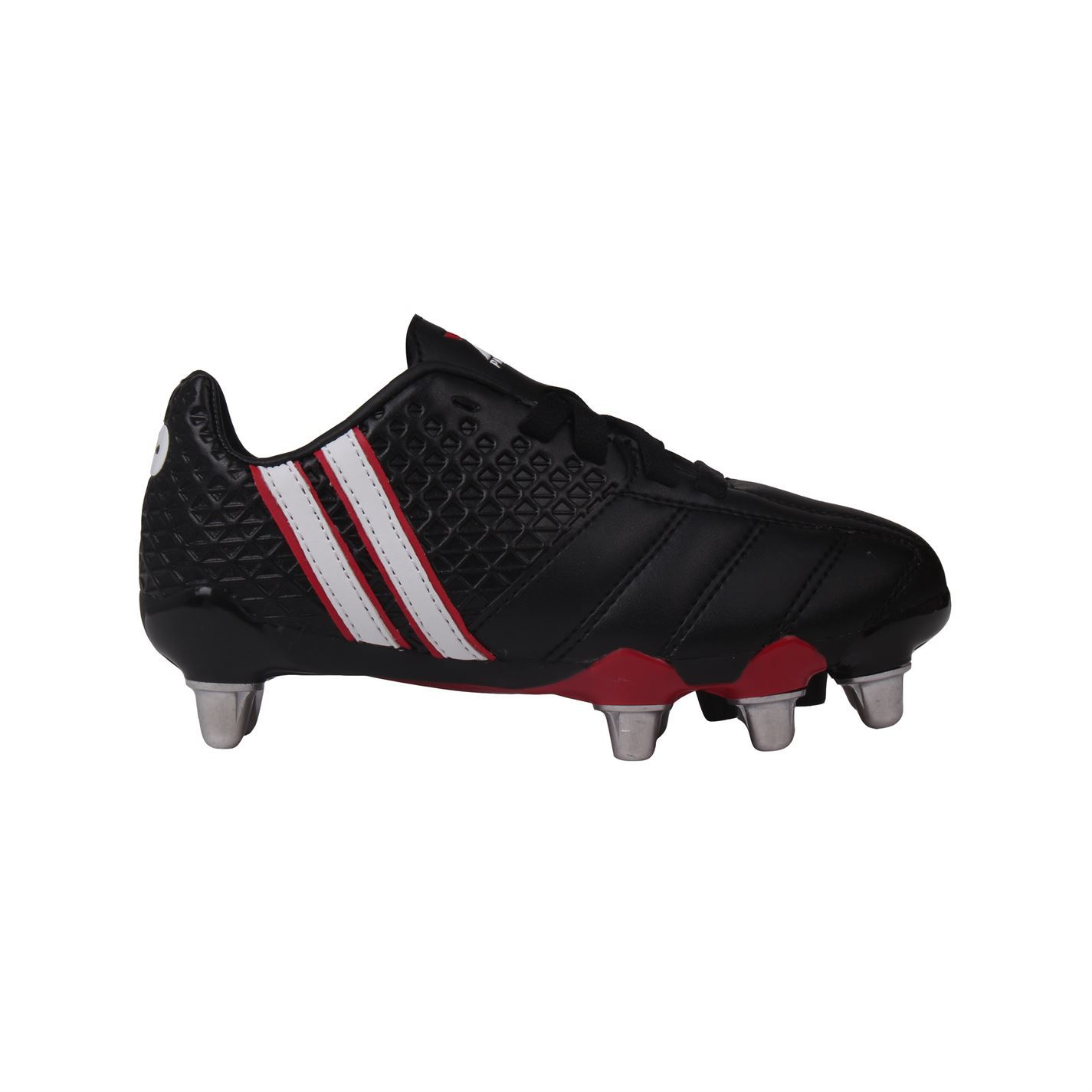 2e68b3c5e Details about Patrick Power X Rugby Boots Black White Juniors Studded Boots  Cleats