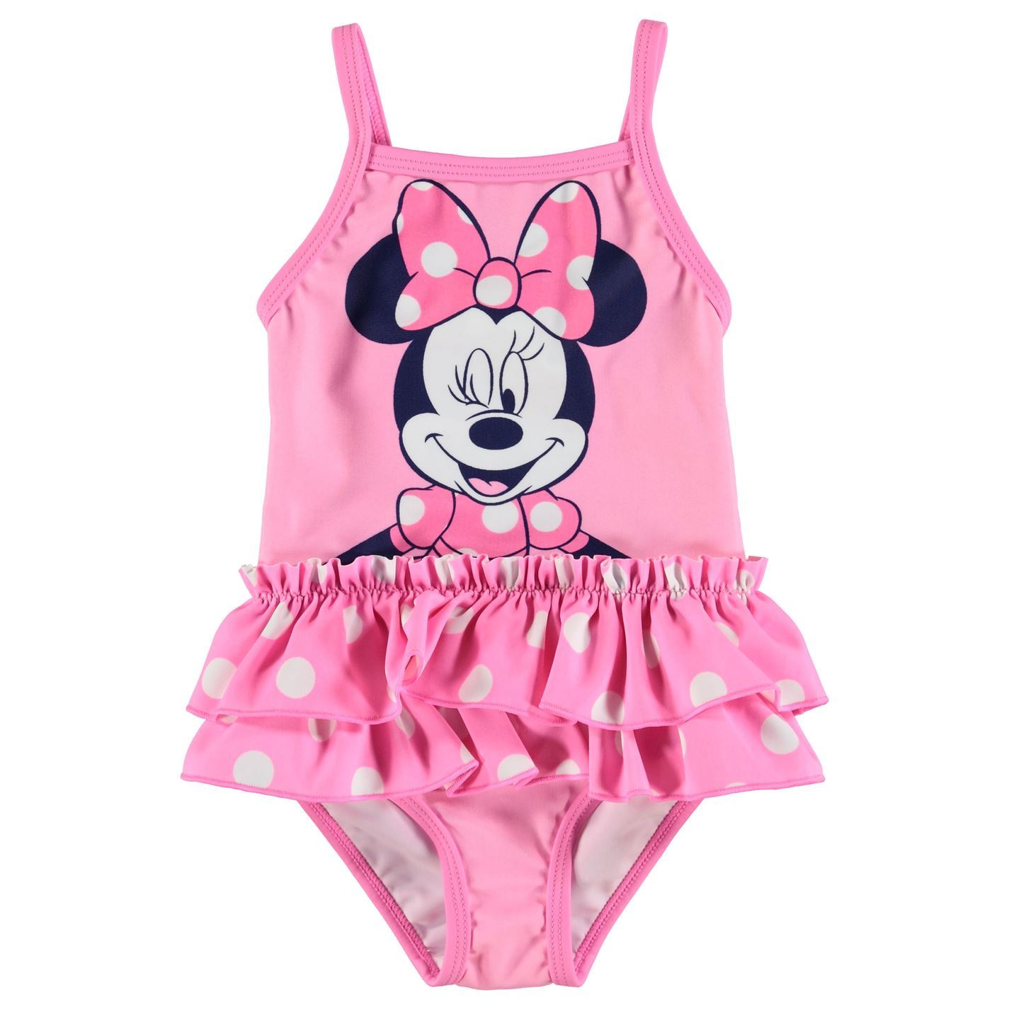 4220458c99c6f Details about Disney Minnie Mouse Swim Suit Baby Girl Pink Swimming Costume  Beachwear