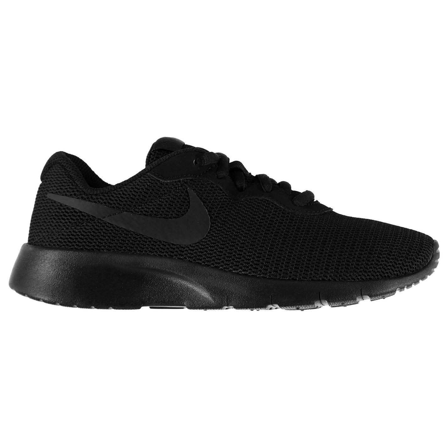 Details about Nike Tanjun Junior Boys Trainers Black Shoes Footwear