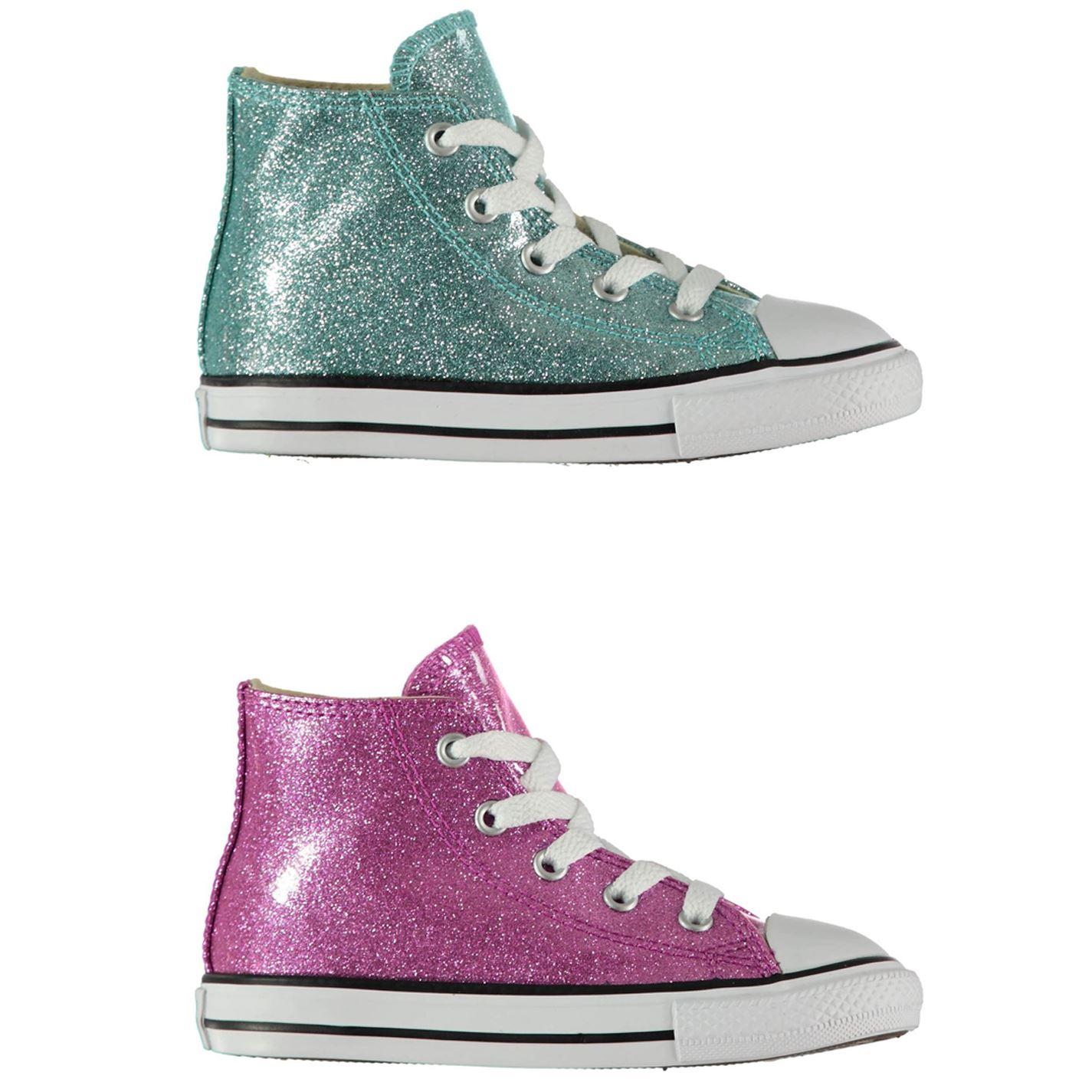 Paillette Montante Converse Détails Sur Chaussures Fille CoxerdBW