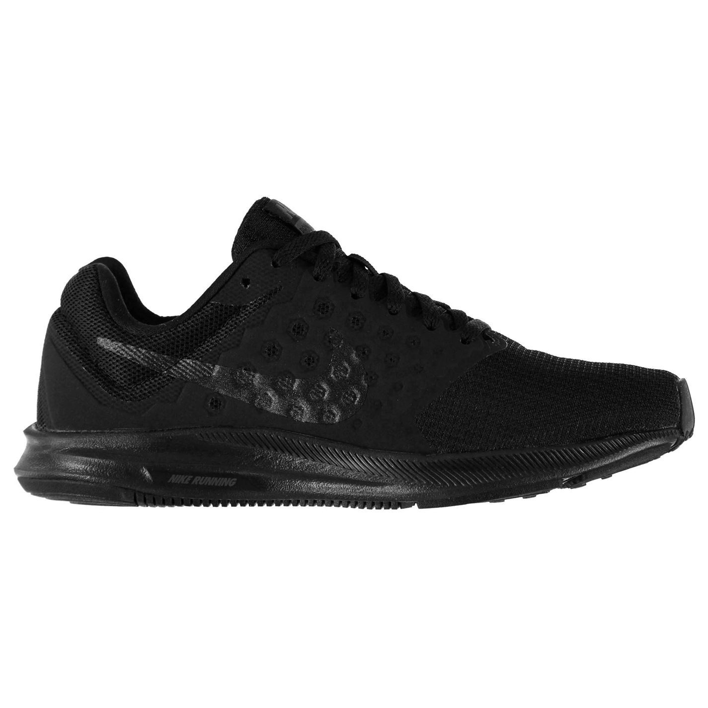 ... Nike Downshifter 7 Trainers Womens Black/Grey Sneakers Sports Shoes  Footwear ...