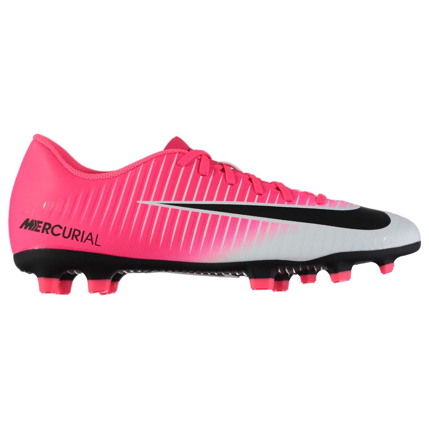 b8cb1fb75a8 ... Nike Mercurial Vortex FG Firm Ground Football Boots Mens Pnk Blk Soccer  Shoes ...