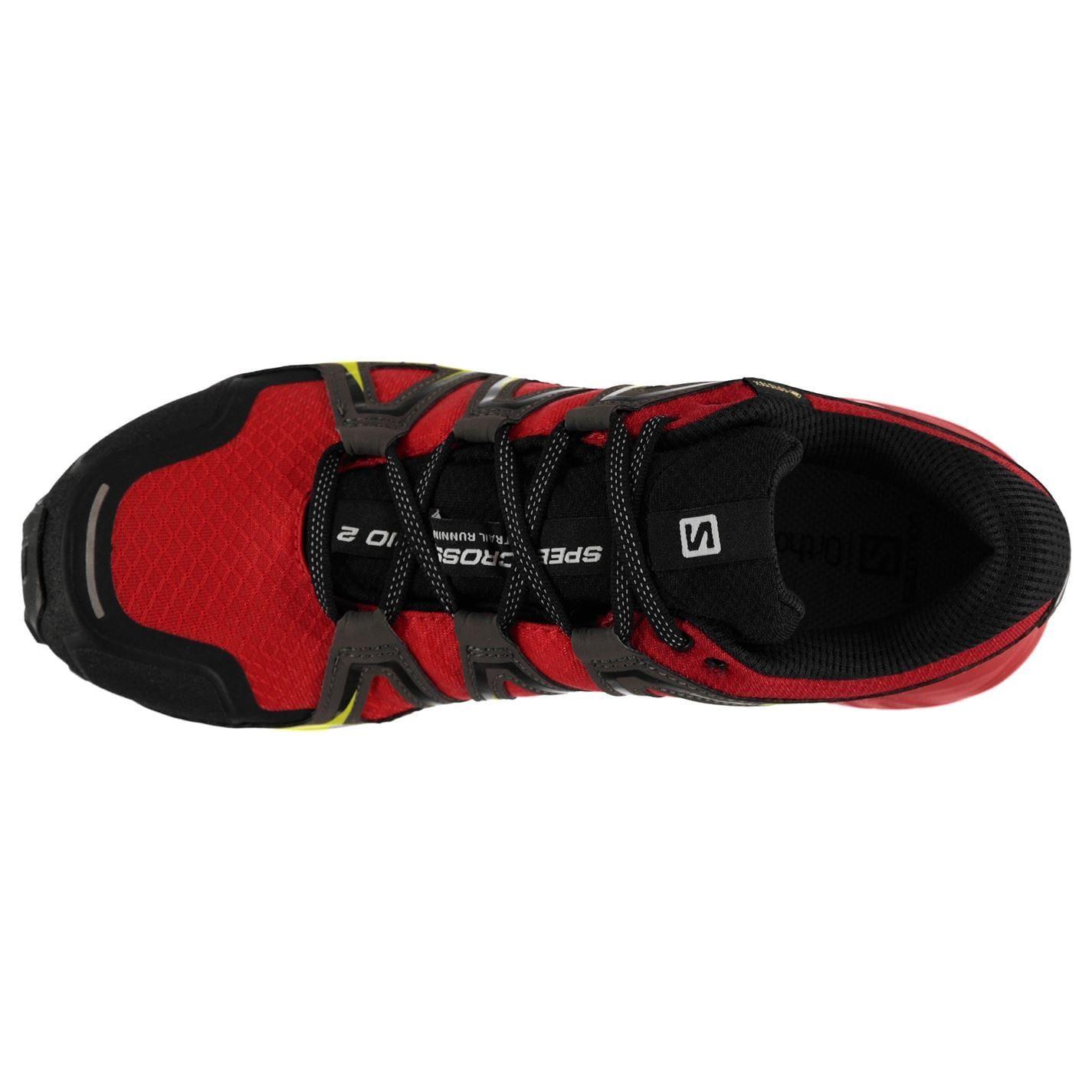 Détails sur Salomon Speedcross Vario 2 GTX Trail Running Baskets Pour Homme Fiery Red Shoes afficher le titre d'origine