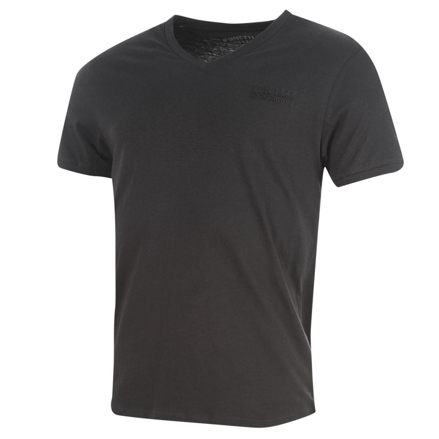 Firetrap-Path-T-Shirt-Mens-Navy-Top-Tee-Tshirt thumbnail 3