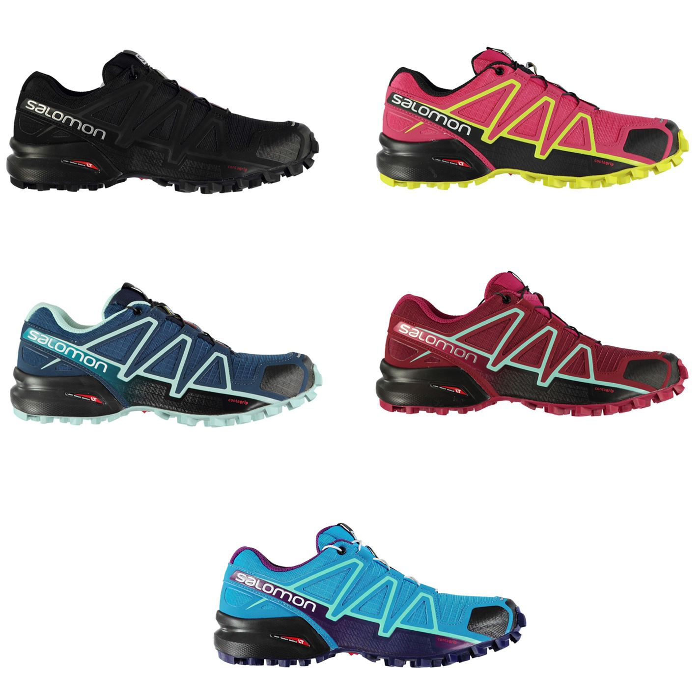 Details about Salomon Speedcross 4 Running Shoes Womens Jogging Trainers Sneakers Fitness