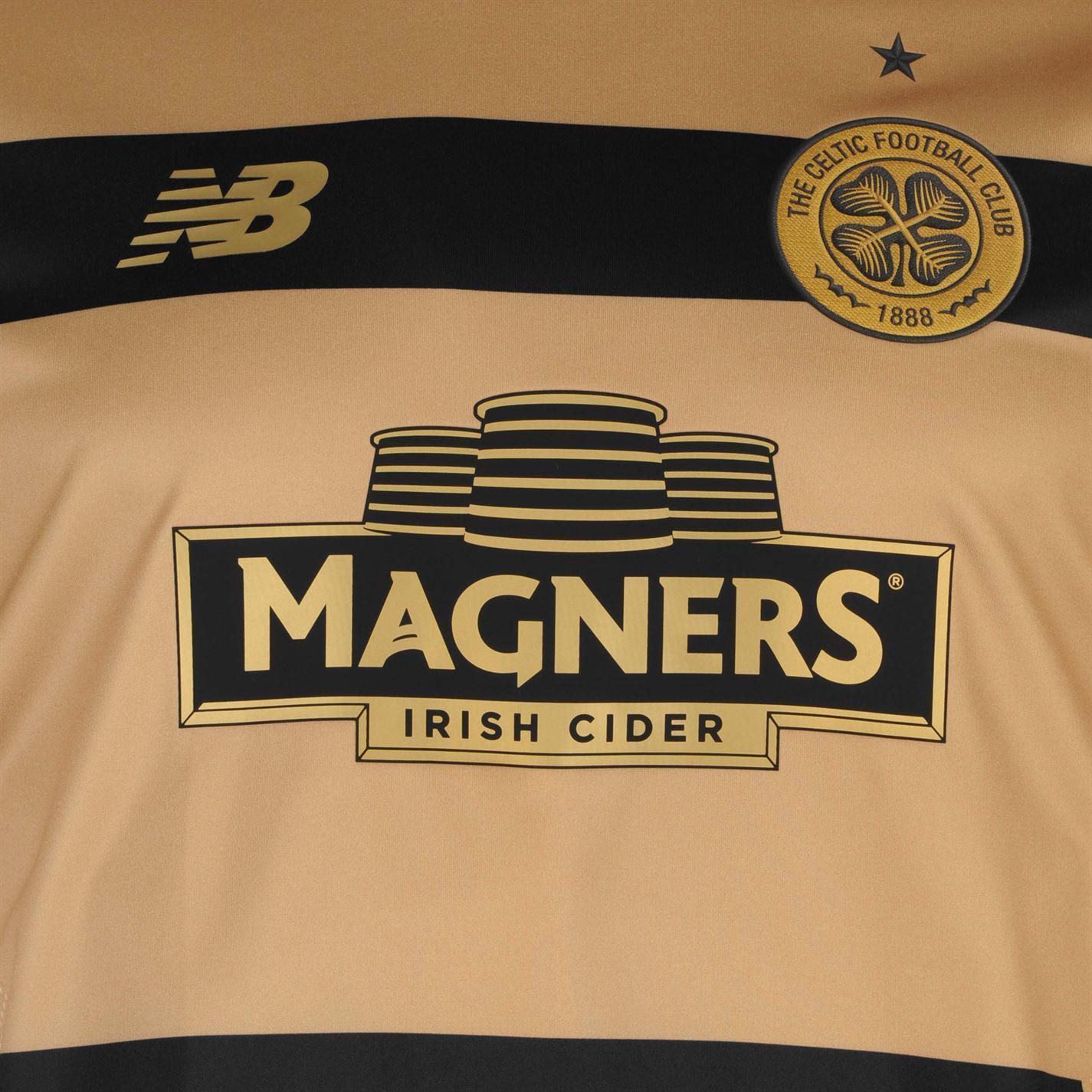 0ab1a1db8 ... New Balance Celtic FC Pre Match Jersey Mens Gold Football Soccer Shirt  Top